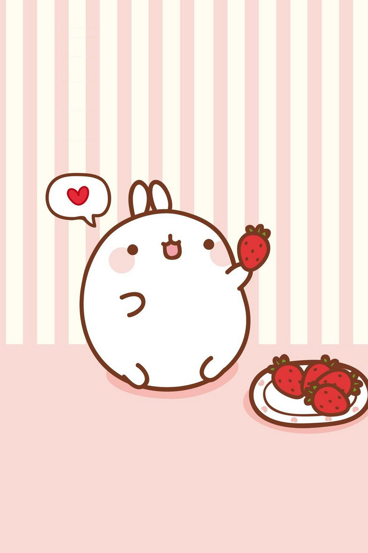 Res: 1280x1920, Molang ☆ Find more super cute Kawaii wallpapers for your #iPhone + #Android  @