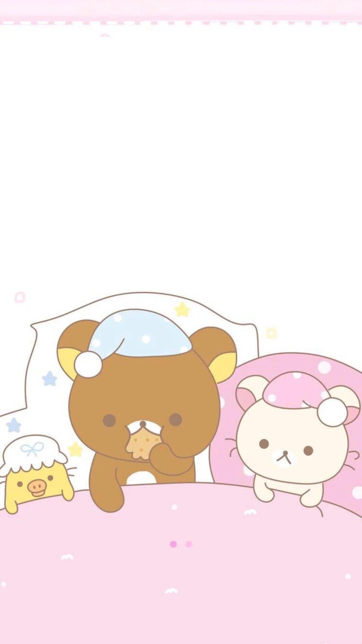 Res: 1200x2134, Rilakkuma, Telephone, Iphone Wallpapers, Chibi, Kawaii, Phone, Kawaii Cute,  Iphone Backgrounds