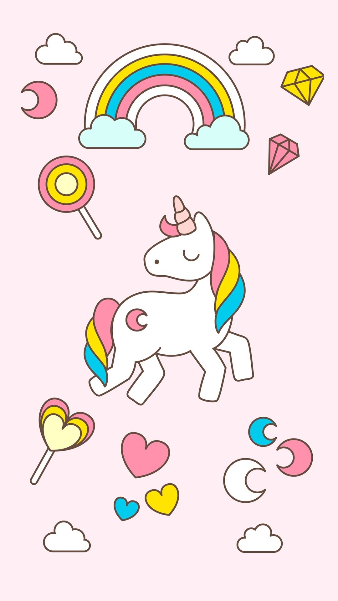 Res: 1080x1920, Simple Wallpaper Cartoon Kawaii - unicorn-cartoon-images-3-c-unicorn