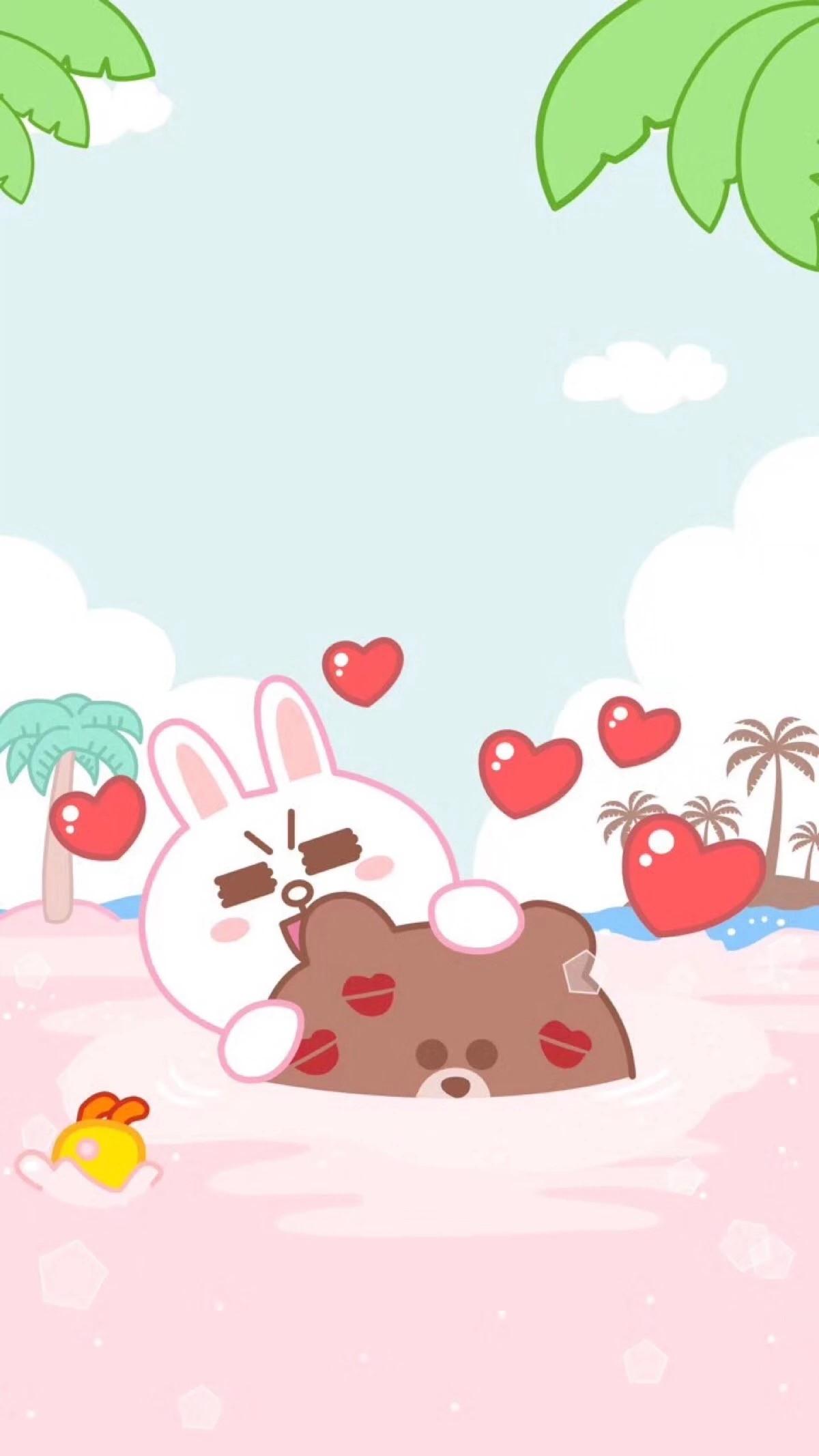 Res: 1200x2133, Friends Wallpaper, Kakao Friends, Line Friends, Phone Backgrounds, Phone  Wallpapers, Rabbit, Sheep, Sticker, Kawaii