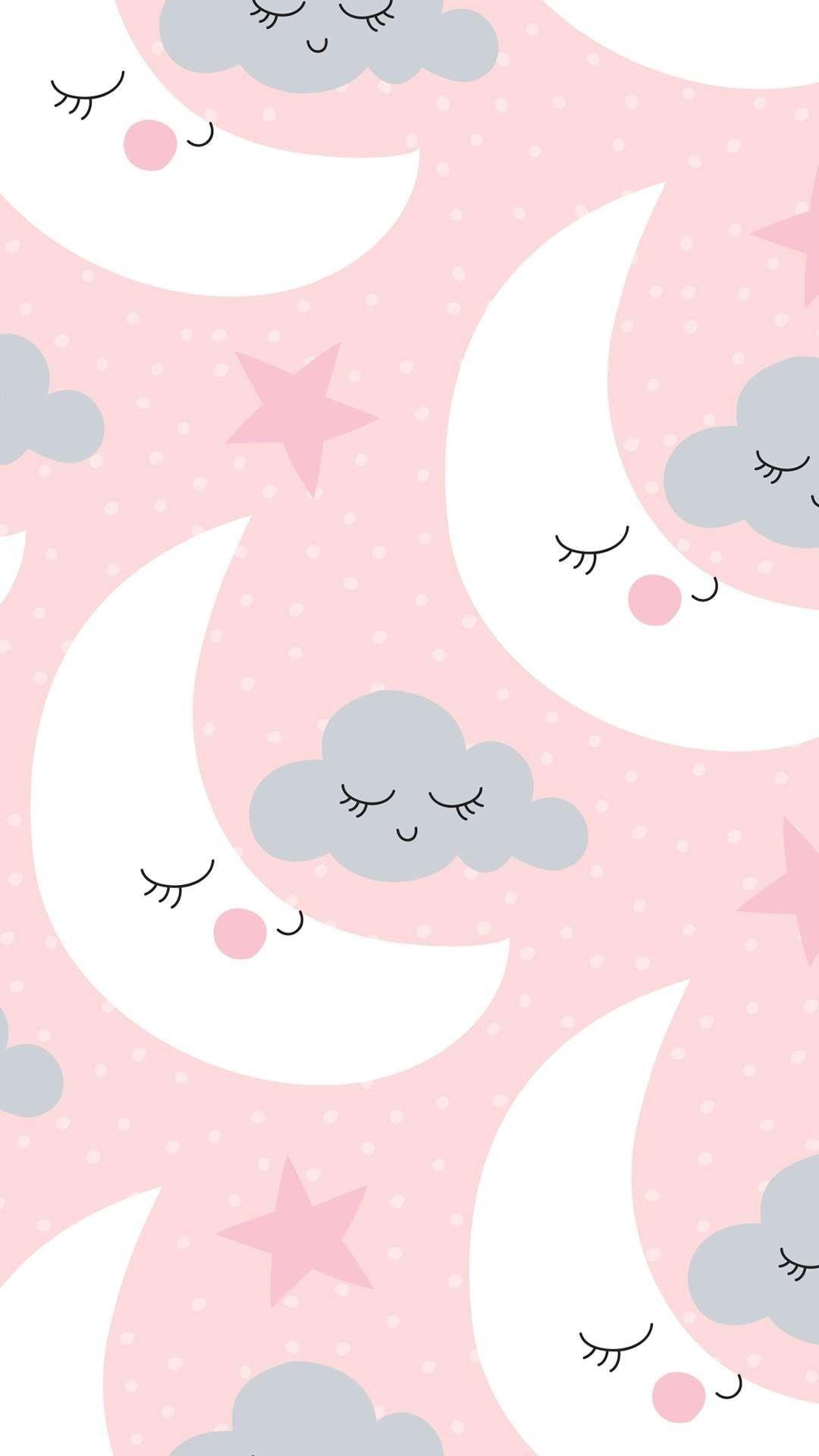 Res: 1080x1920, A lua e a nuvem.