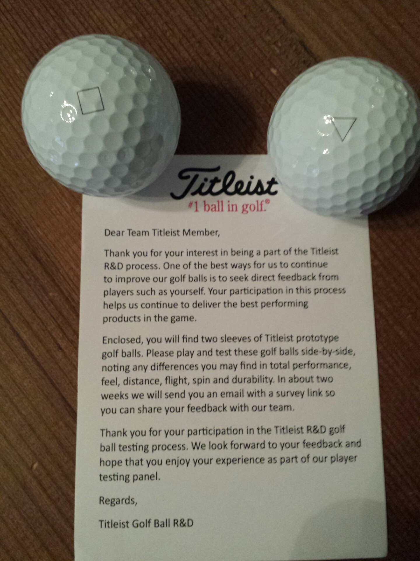 Res: 1440x1920, Got two sleeves of these Titleist prototype golf balls in the mail today.