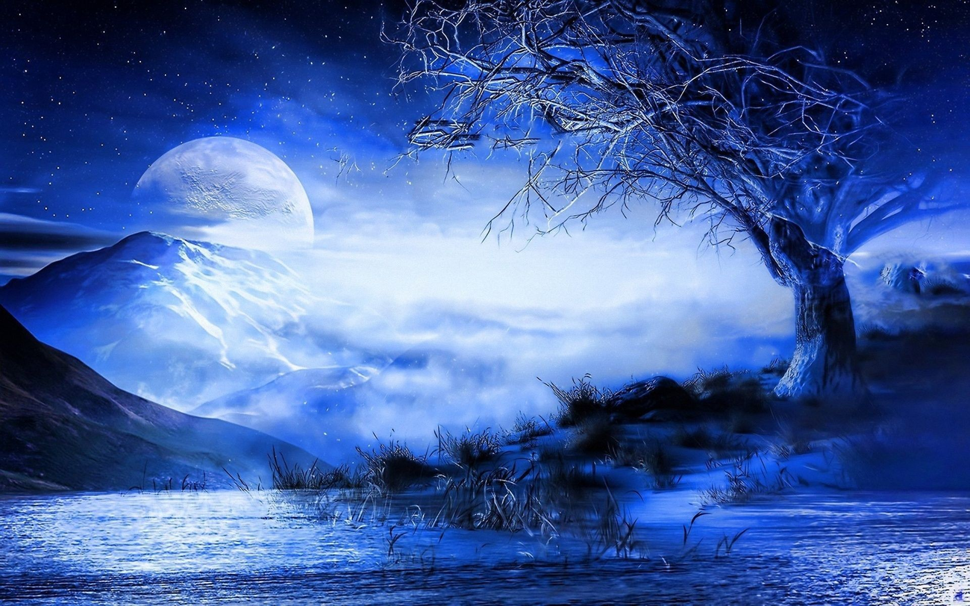 Res: 1920x1200, Blue-Moon-3D-Wallpapers-HD.jpg