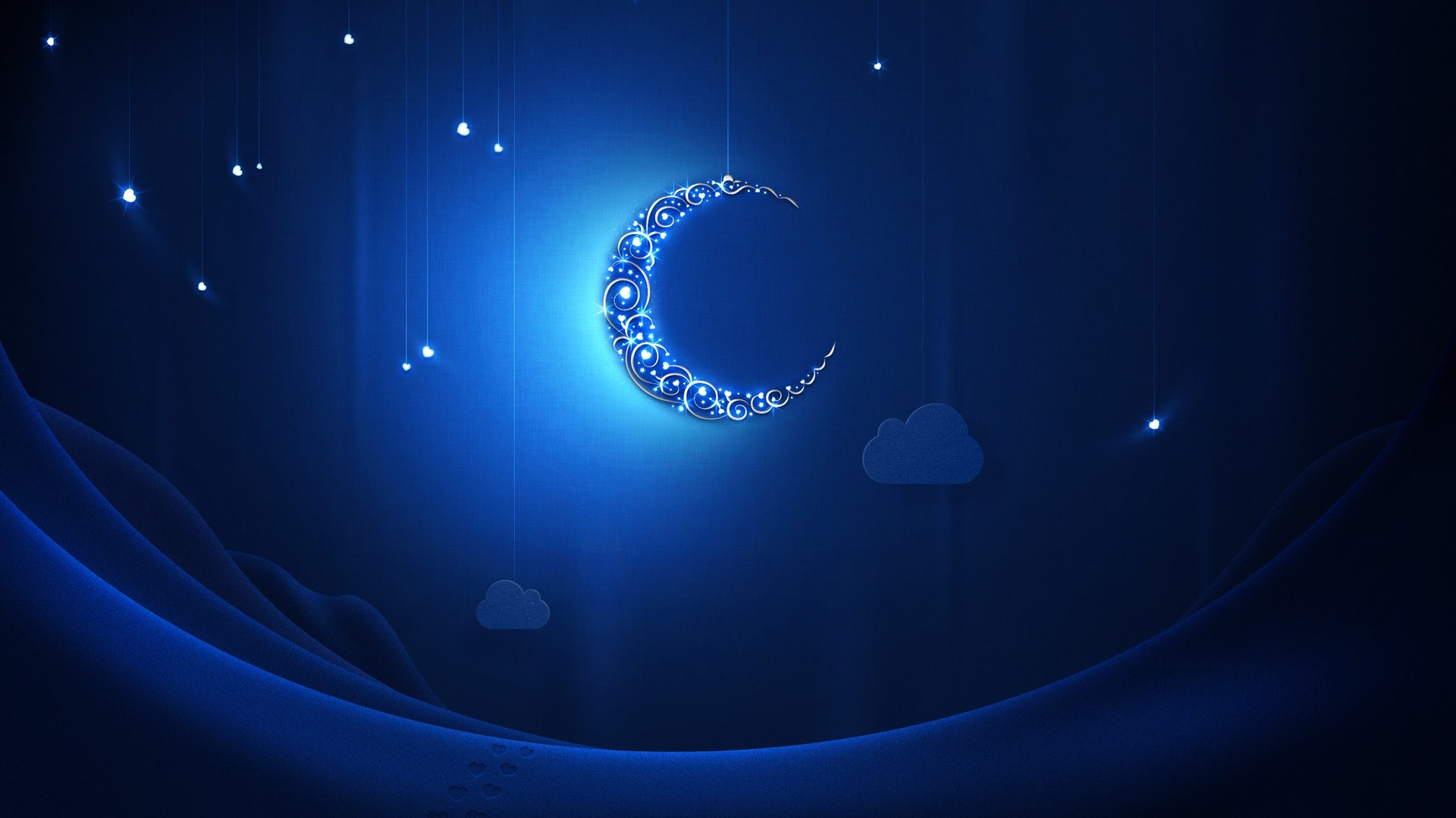 Res: 1920x1080, Blue moon at Ramadan