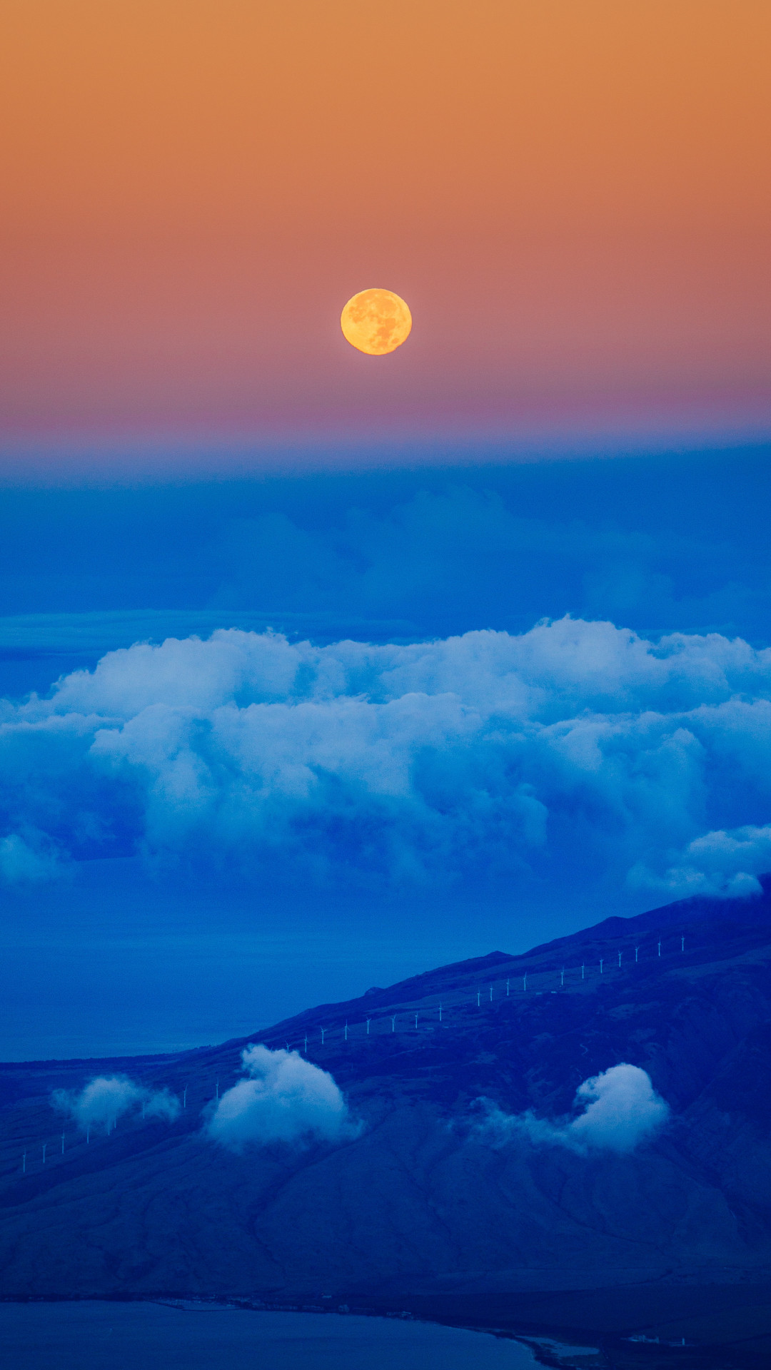 Res: 1080x1920, Cloud, Sky, Blue, Moon iPhone Wallpaper