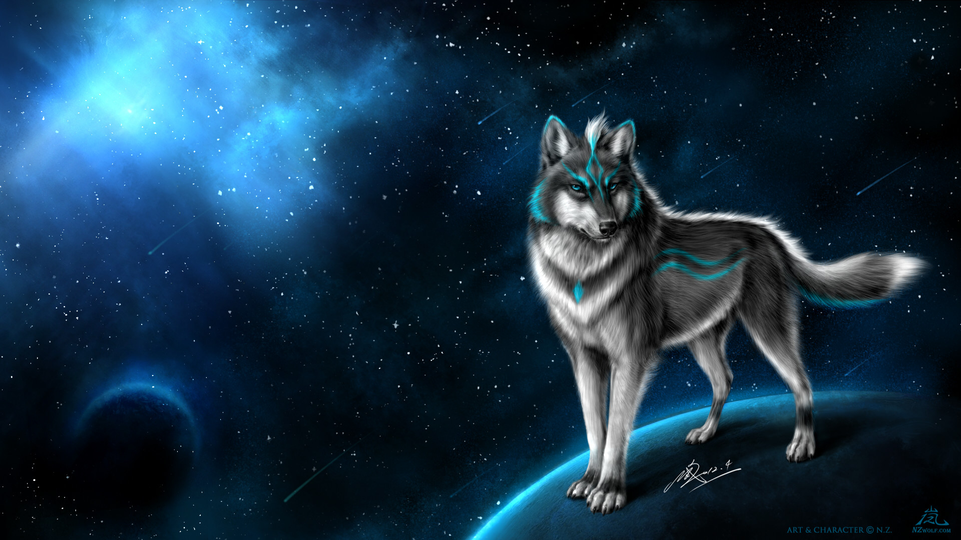 Res: 1920x1080, Nicker11500 images Guardian wolf of the blue moon HD wallpaper and  background photos