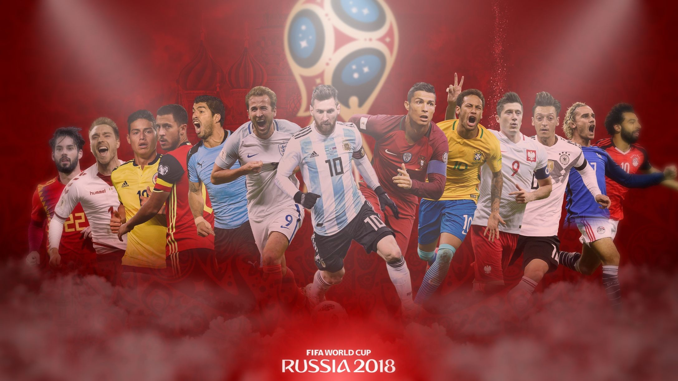 Res: 2176x1224, 2018 FIFA World Cup Soccer Football Players