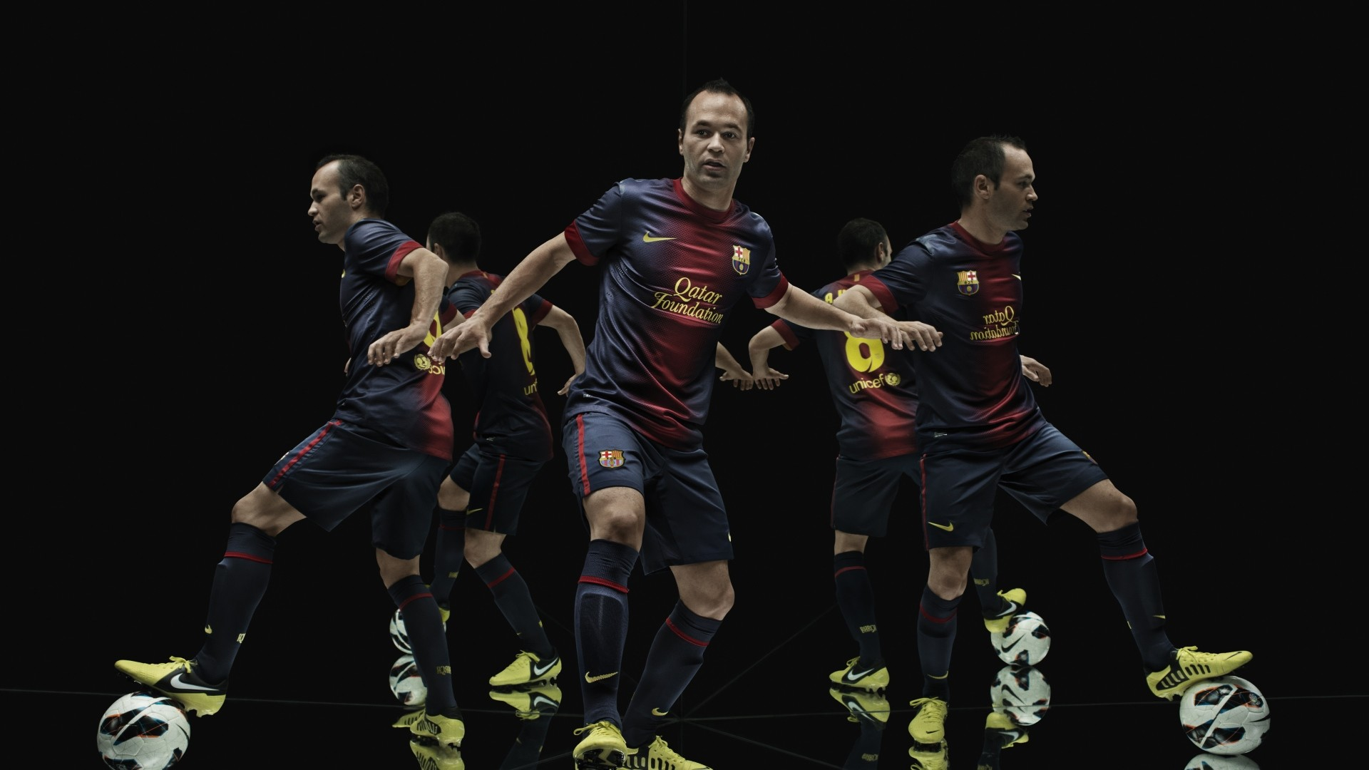 Res: 1920x1080, Iniesta Barcelona Soccer Player
