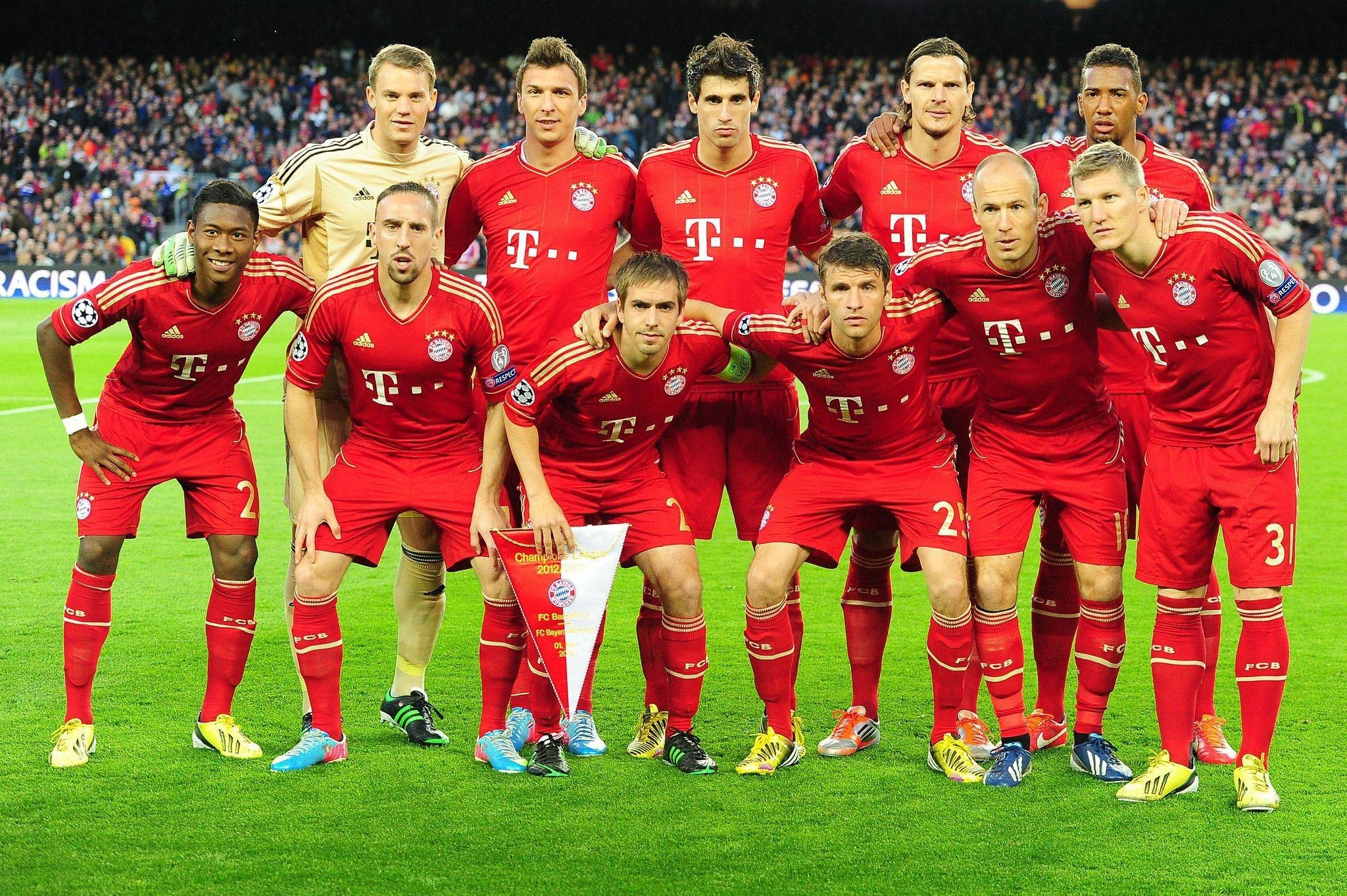 Res: 2048x1363,  FC Bayern Champions League Team Wallpaper | Football wallpapers