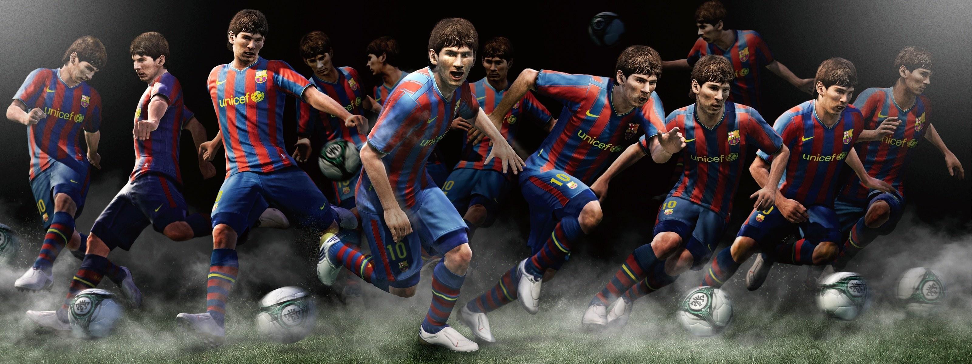 Res: 3200x1200, Wallpaper zu Pro Evolution Soccer 2011 herunterladen