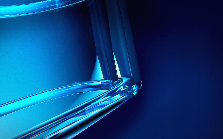 Res: 2880x1800, Blue Crystal Wallpaper