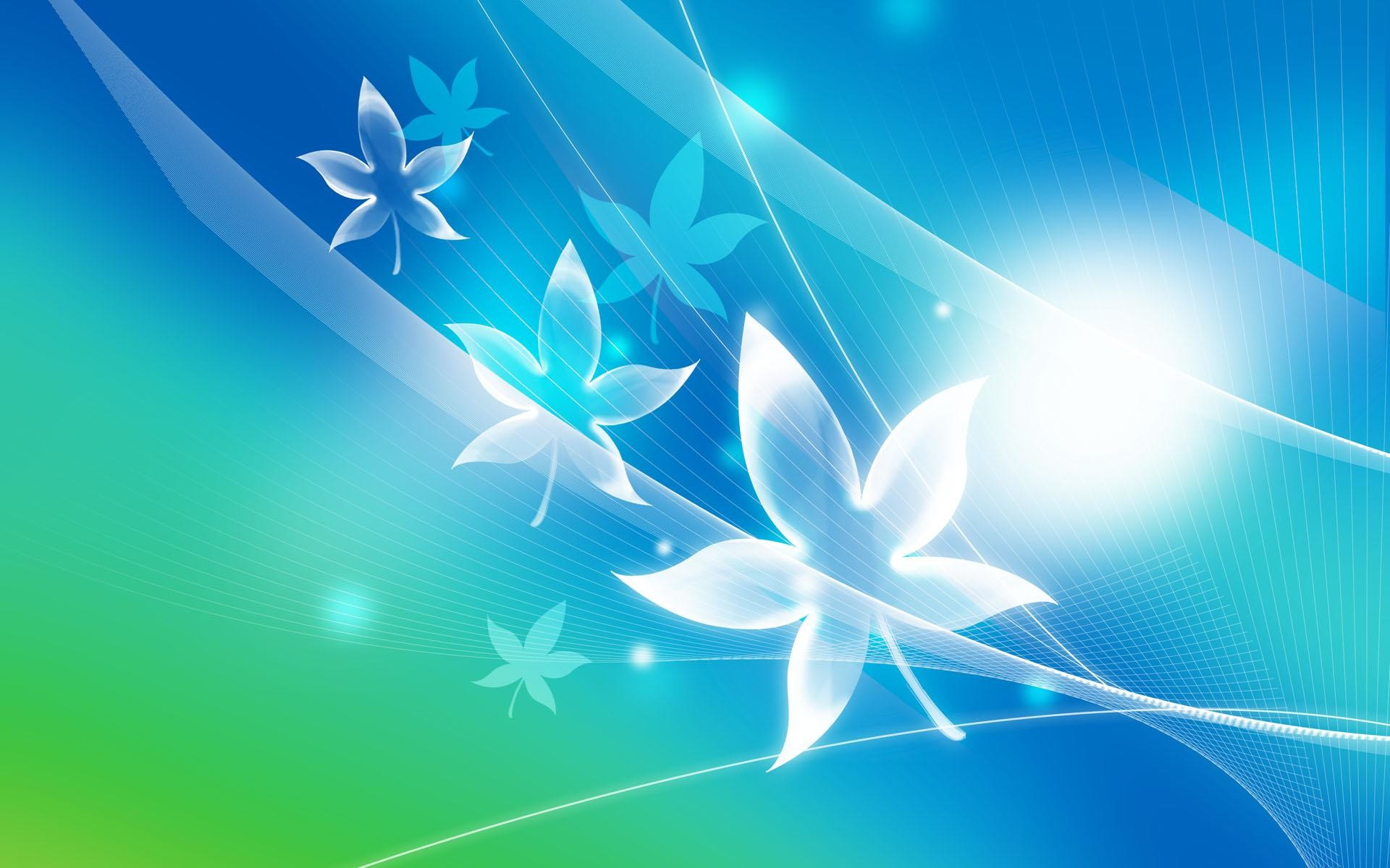 Res: 1920x1200, HD Wallpapers Blue Crystal Leaves