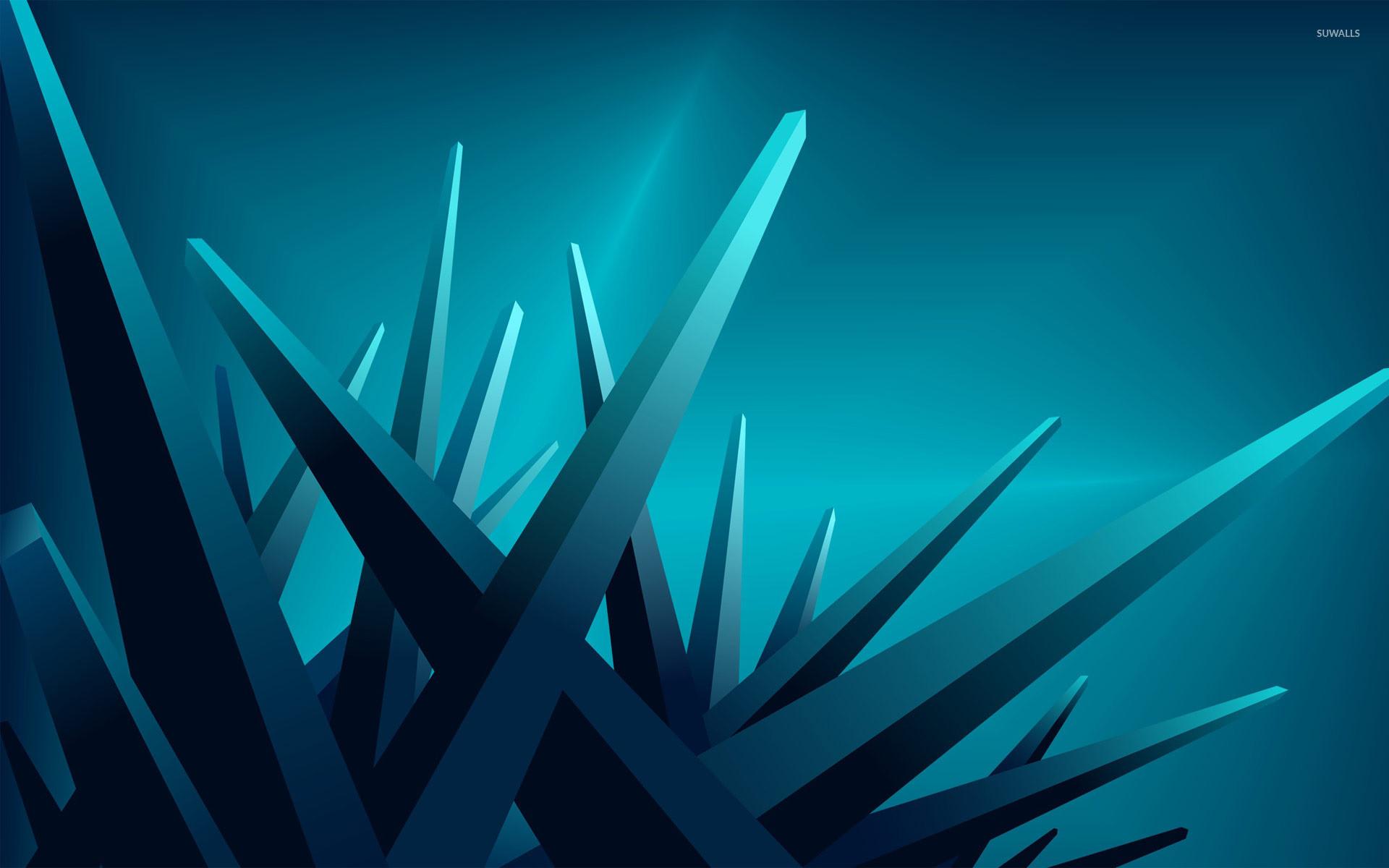 Res: 1920x1200, Blue crystals wallpaper
