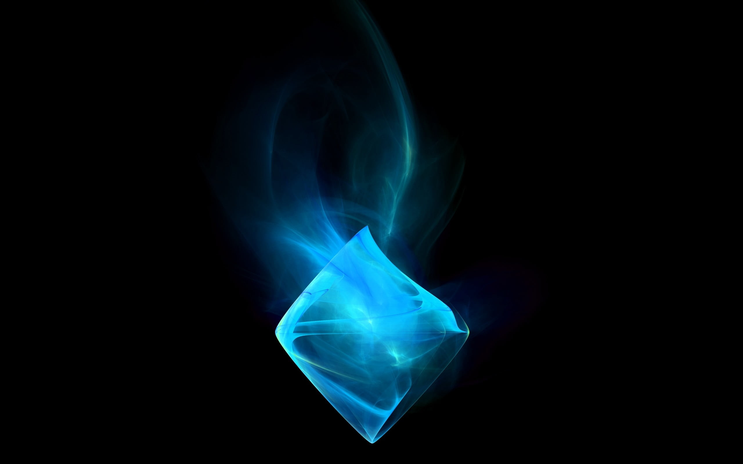 Res: 2560x1600, blue crystal poster HD wallpaper