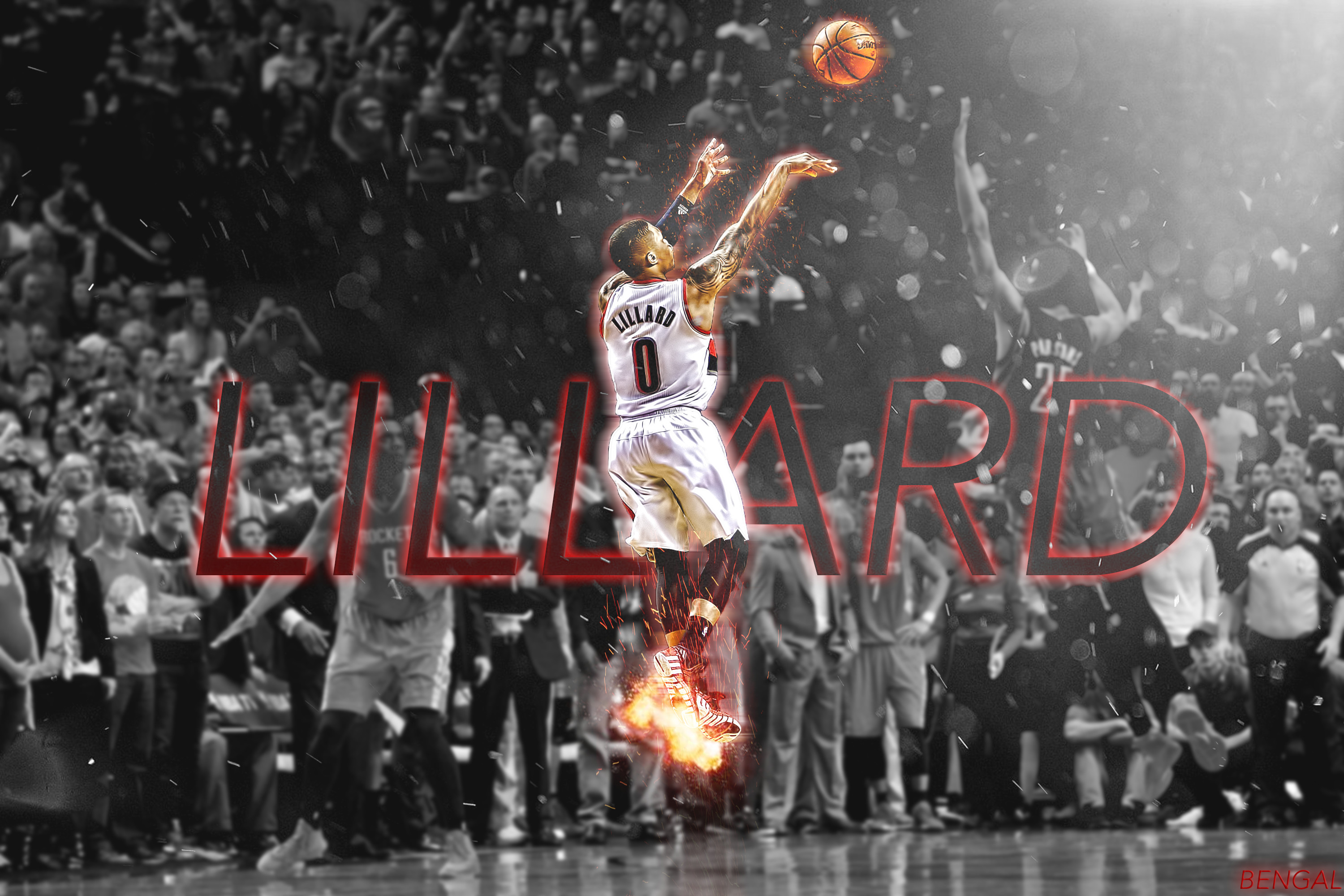 Res: 3000x2000, ... Damian Lillard Wallpaper by Bengal by bengalbro