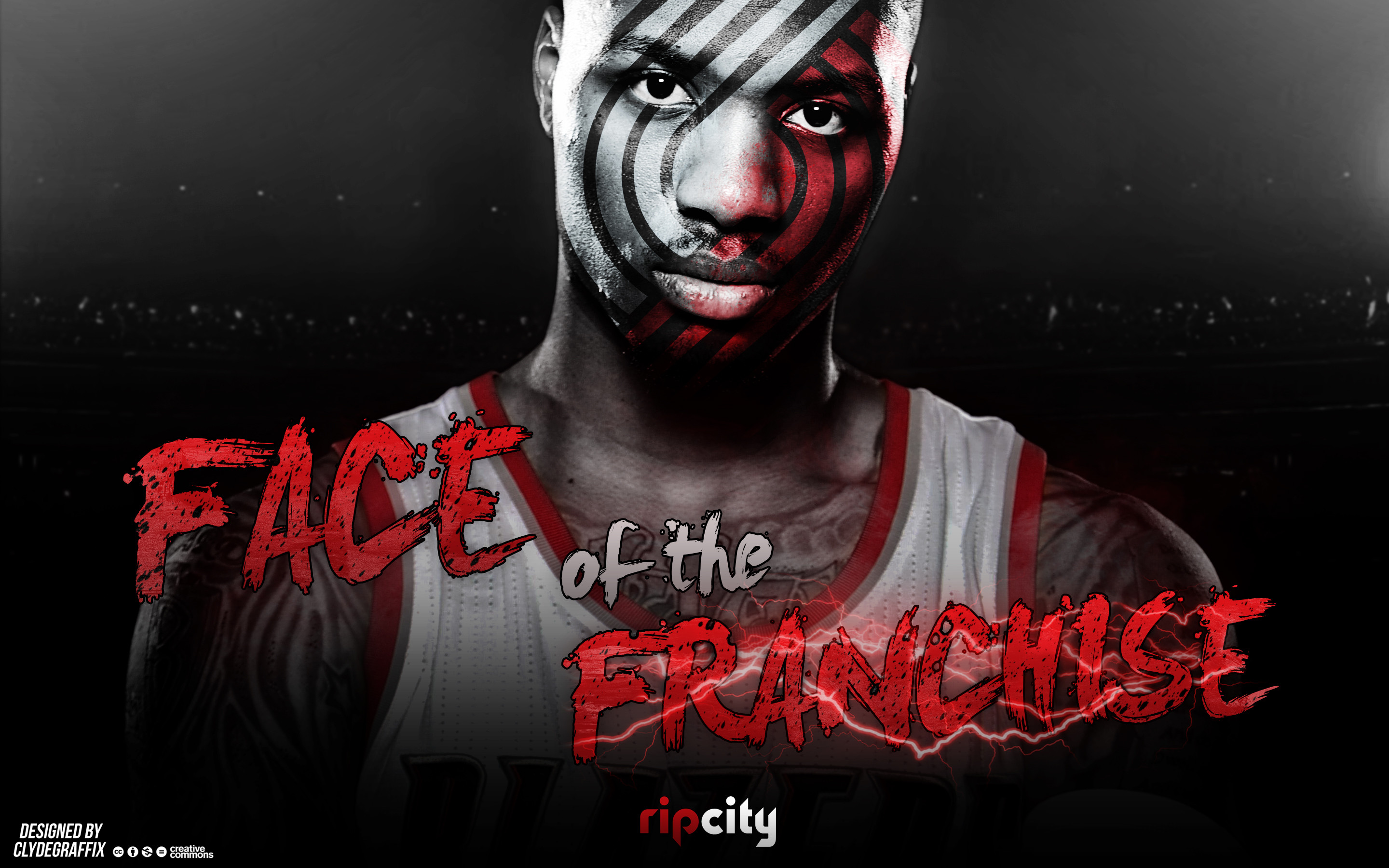 Res: 2880x1800, ... Damian Lillard | Face of the Franchise | Wallpaper by ClydeGraffix