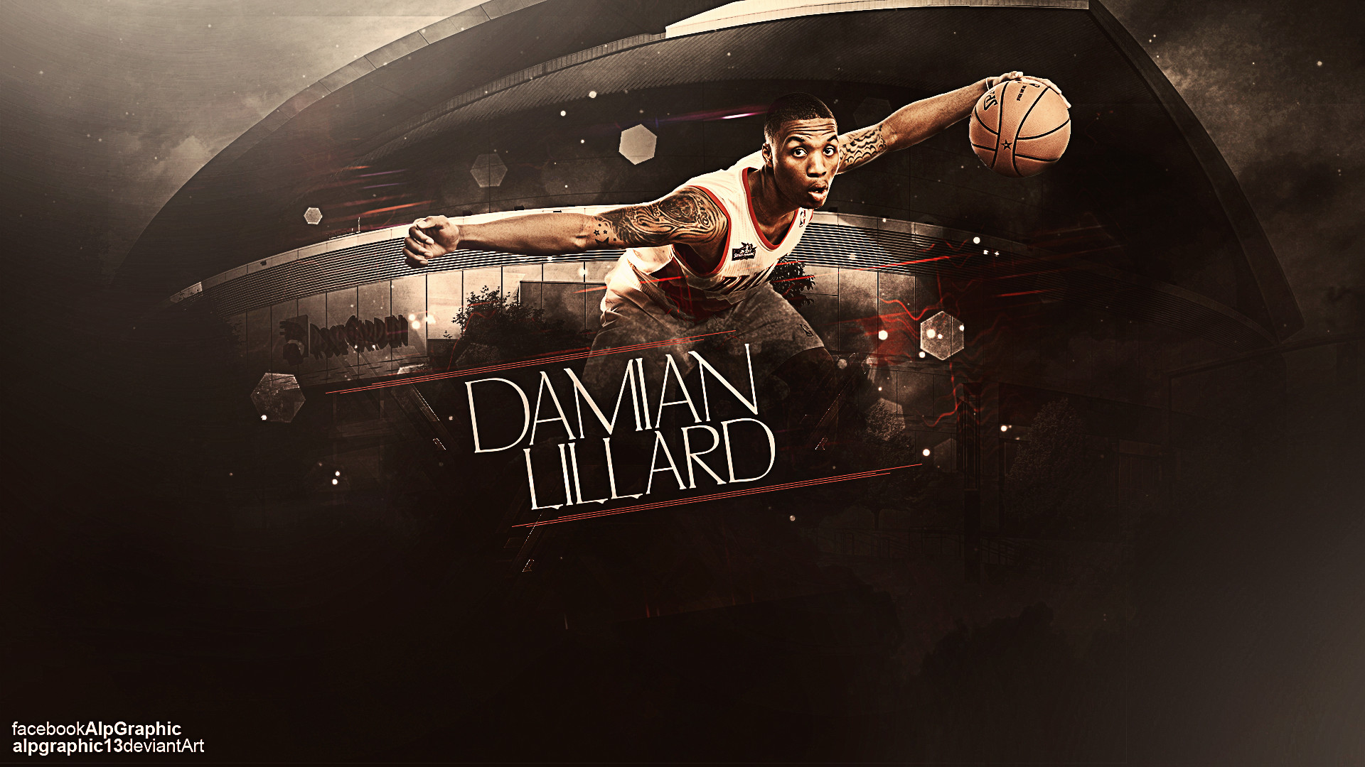 Res: 1920x1080, Damian Lillard by AlpGraphic13 Damian Lillard by AlpGraphic13