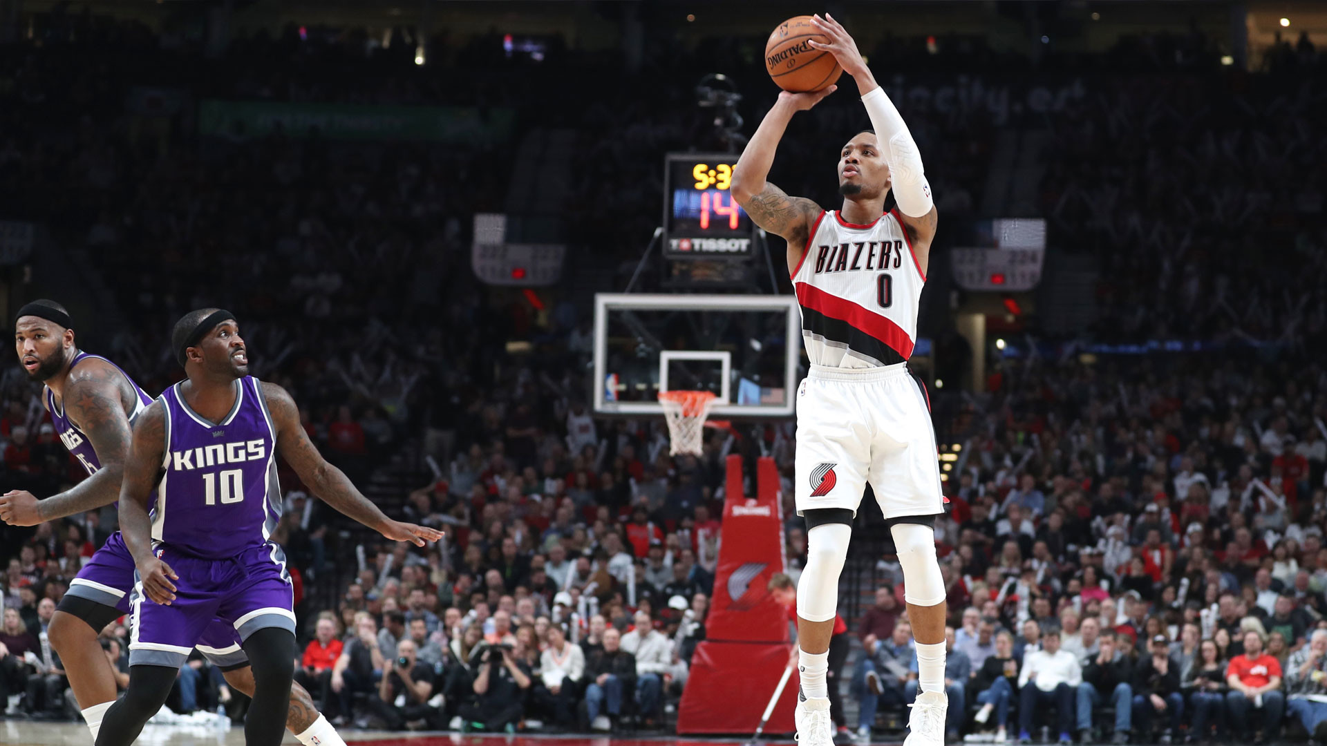 Res: 1920x1080, Shot of the Game: Damian Lillard lets it rip all over the court | NBCS Bay  Area