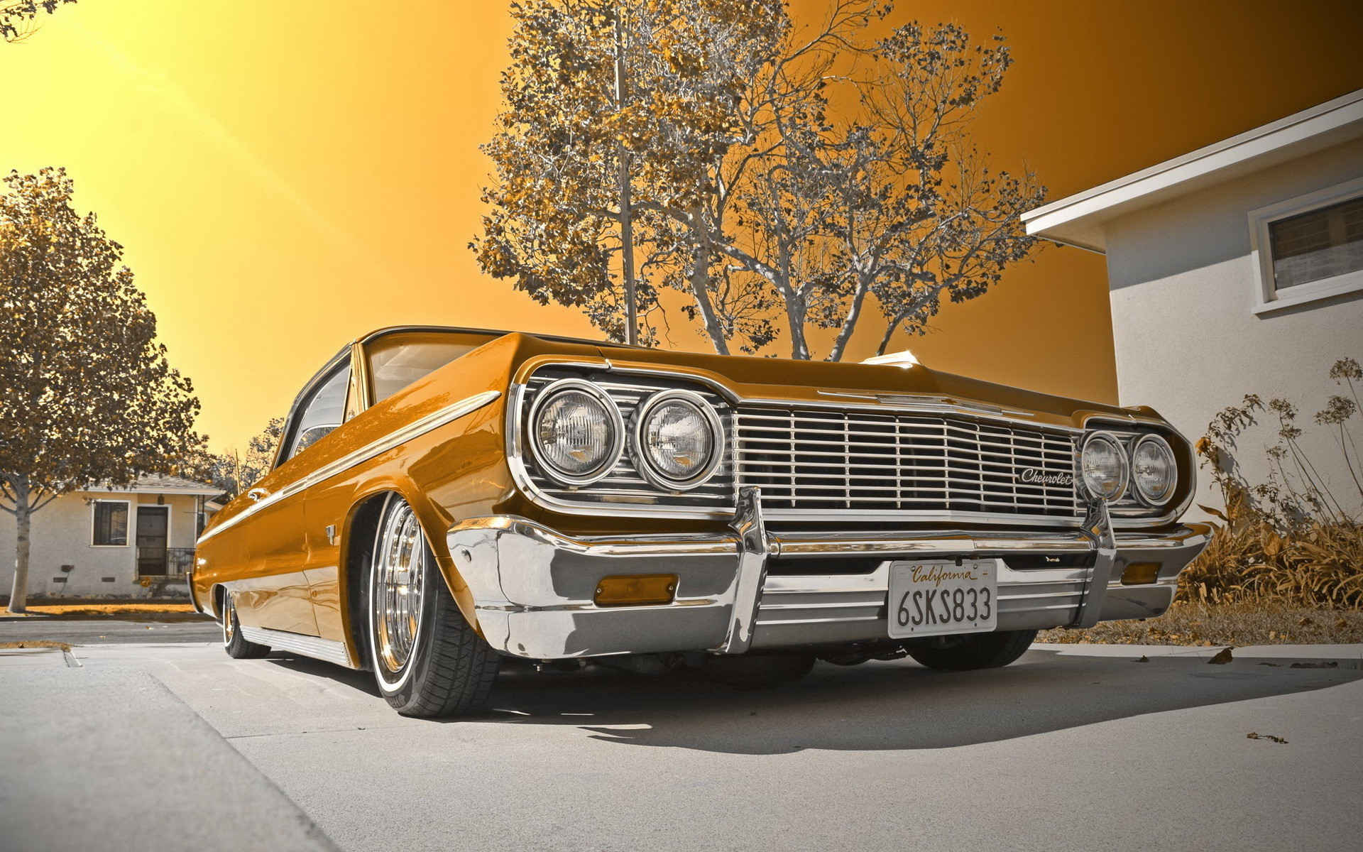 Res: 1920x1200, 1964 Chevy impala lowrider muscle cars tuning wallpaper