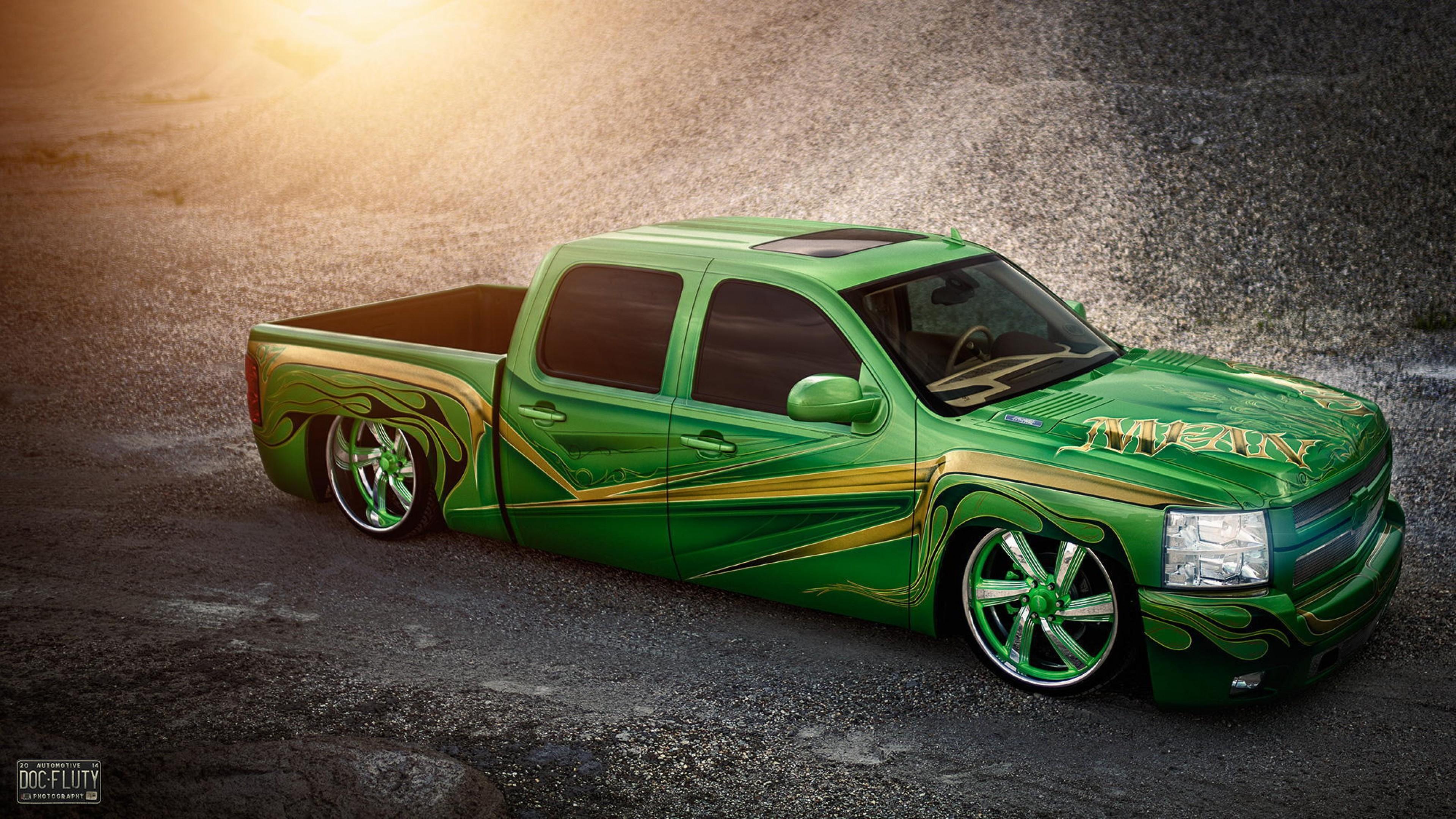 Res: 3840x2160, Chevrolet Silverado Lowrider