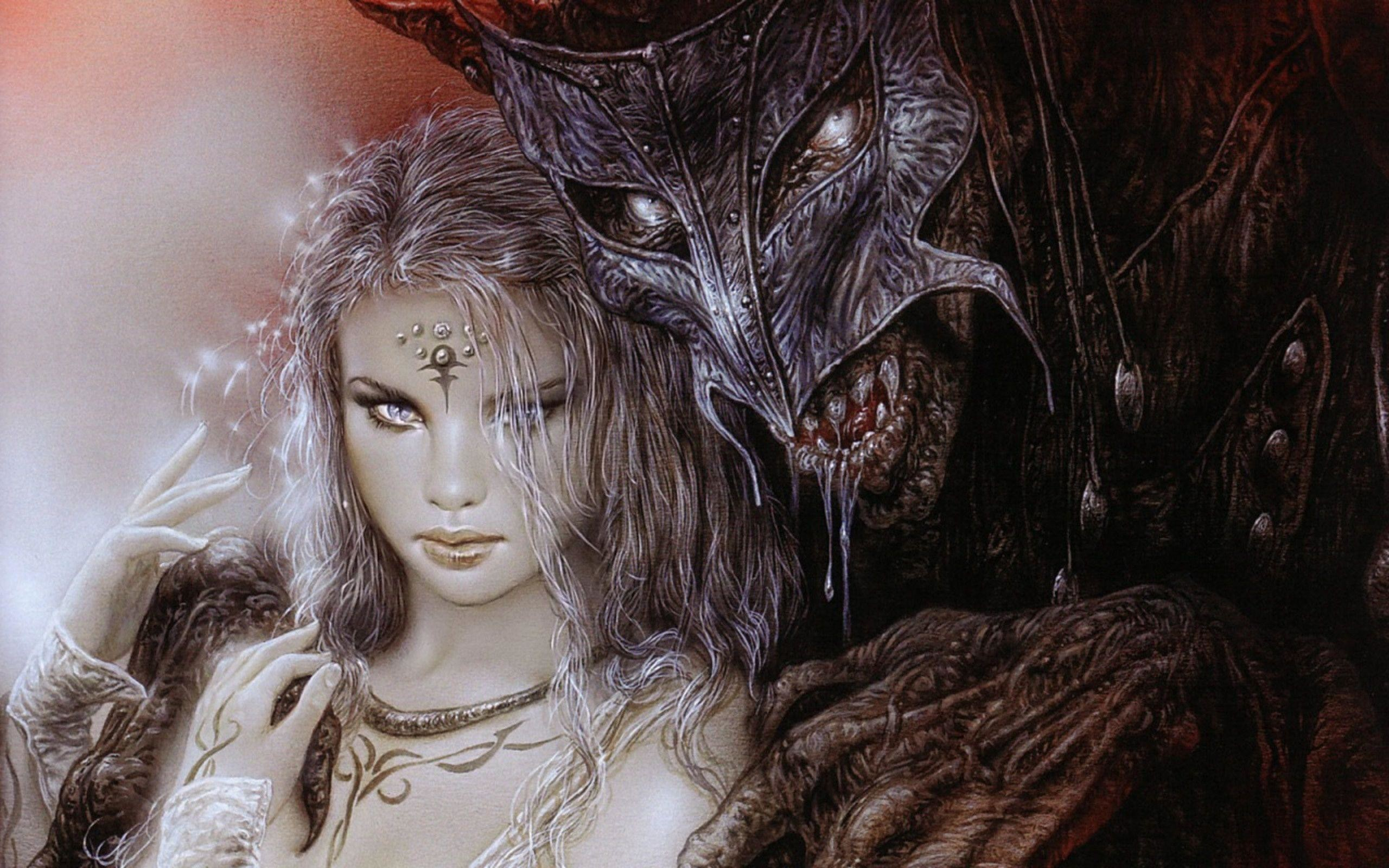 Res: 2560x1600, Lady and Demon - Luis Royo Wallpaper (36130603) - Fanpop