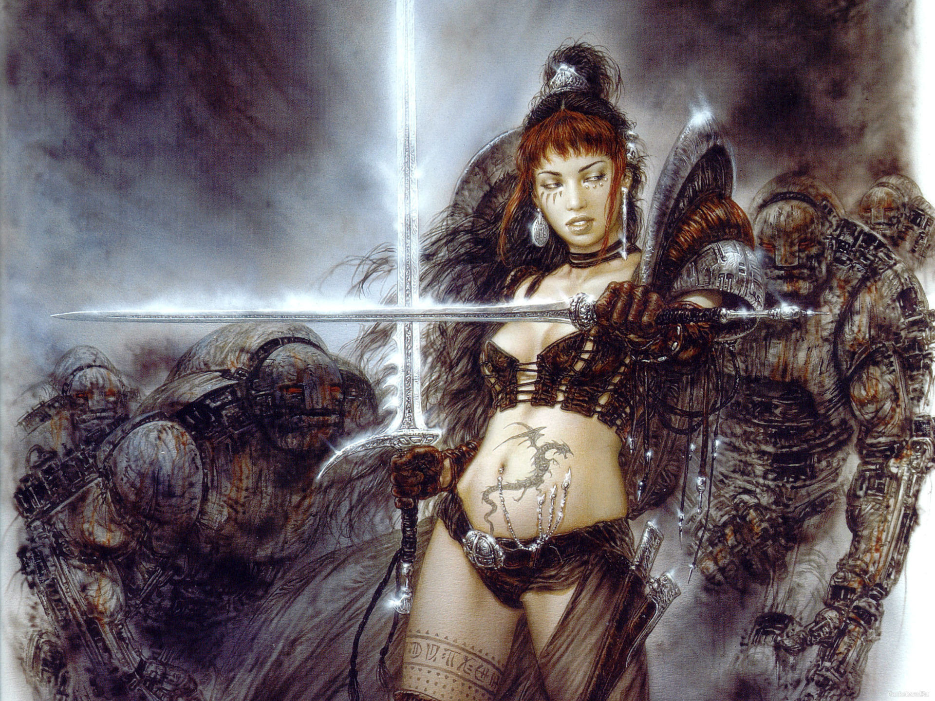 Res: 1920x1440, Luis-Royo Royo fantasy other warriors females weapons swords other wallpaper  |  | 22417 | WallpaperUP