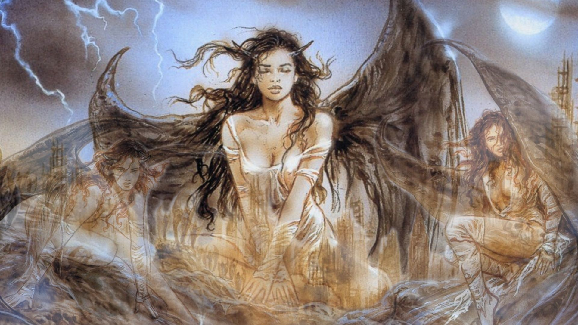 Res: 1920x1080, luis royo prohibited book - Google Search