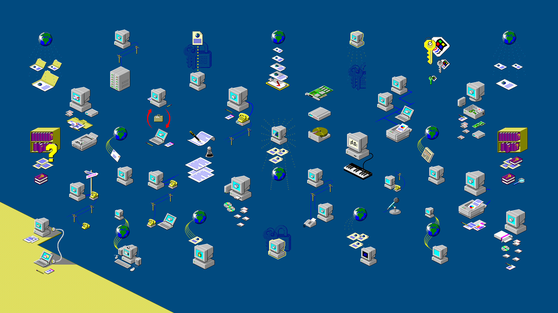 Res: 1920x1080, ... Windows 98 wizard artwork wallpaper by djdjukic