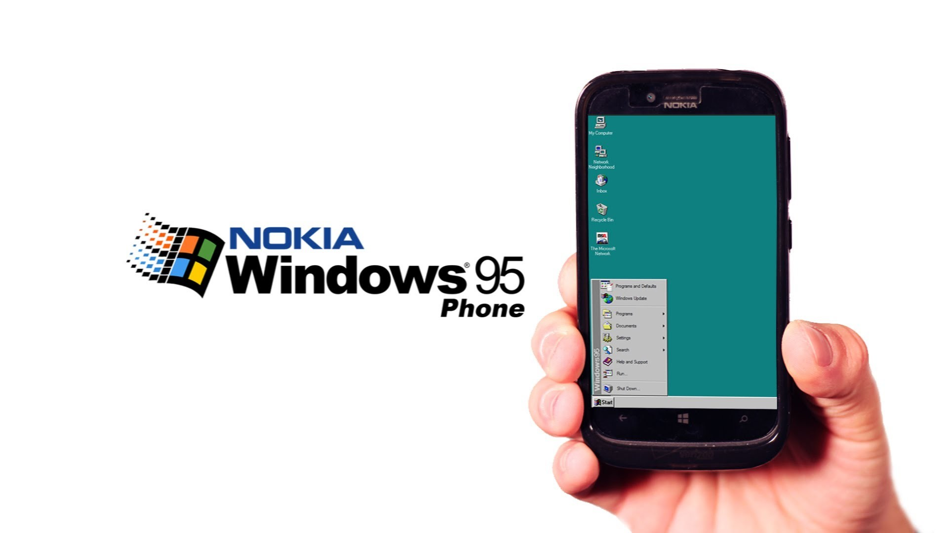 Res: 1920x1080, Zurück in die Zukunft: Nach Windows Phone 8 folgt Windows 95 Phone