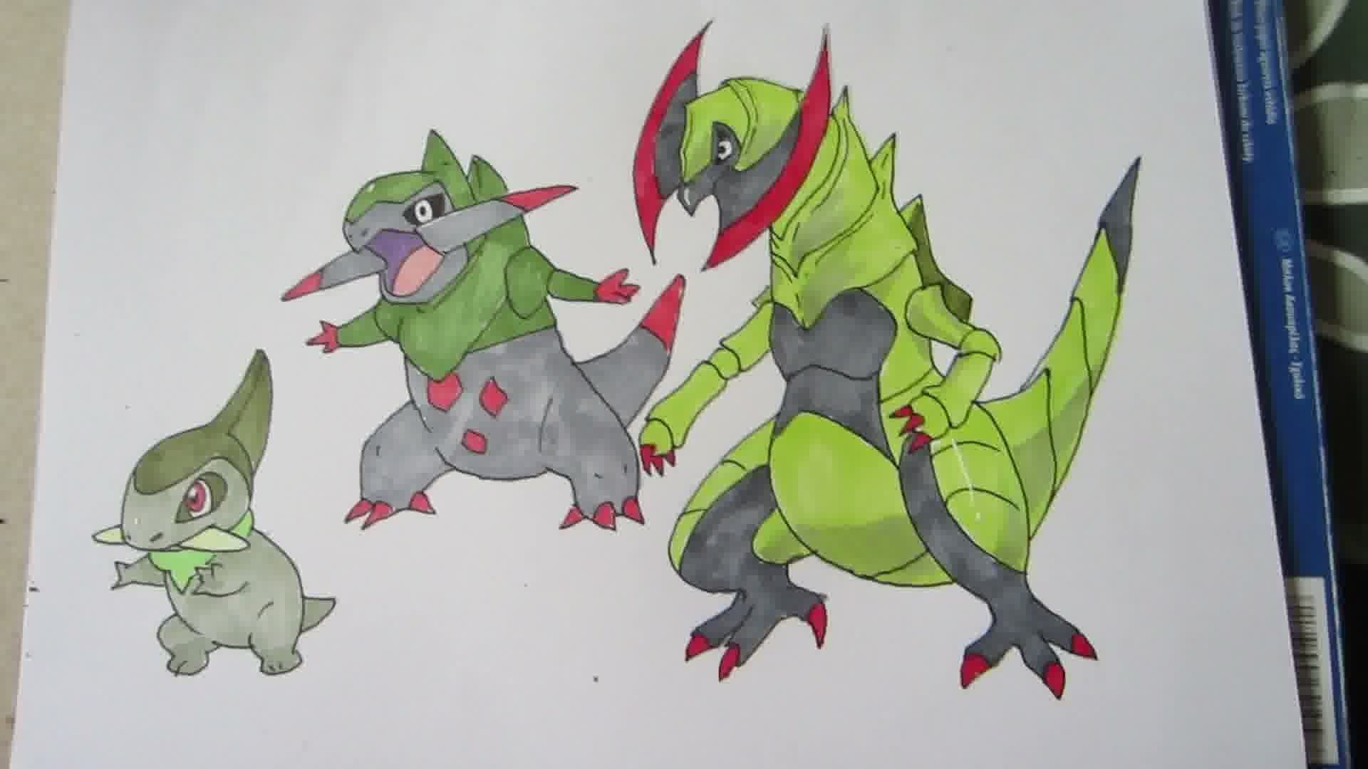 Res: 1920x1080, How to draw Pokemon: No.610 Axew, No.611 Fraxure, No.612 Haxorus - YouTube