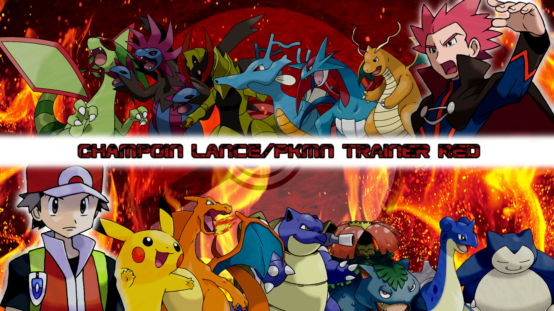 Res: 1920x1080, ... Champion Lance and PKMN Trainer Red Wallpaper Post by MattPlaysVG
