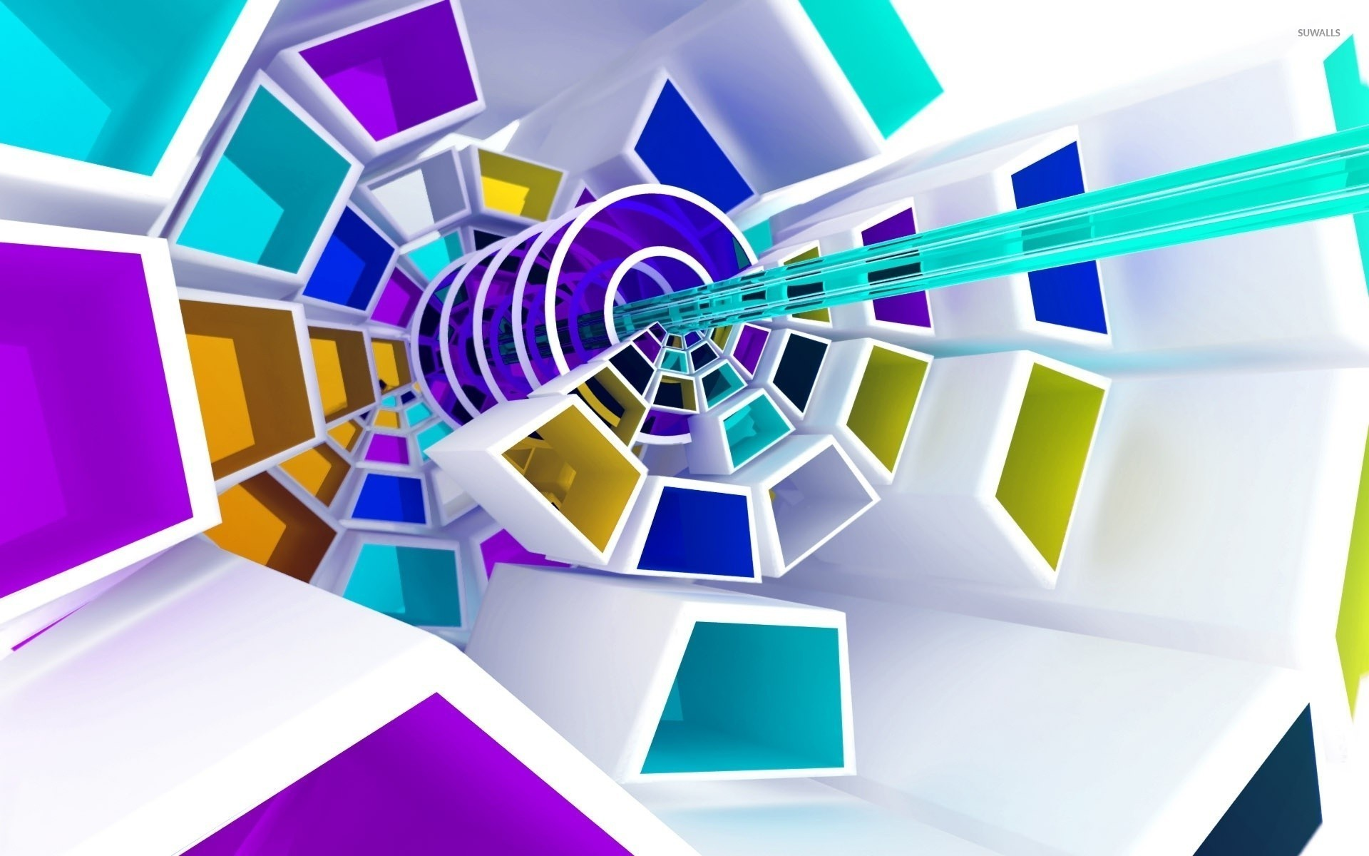 Res: 1920x1200, Spiraling shapes wallpaper