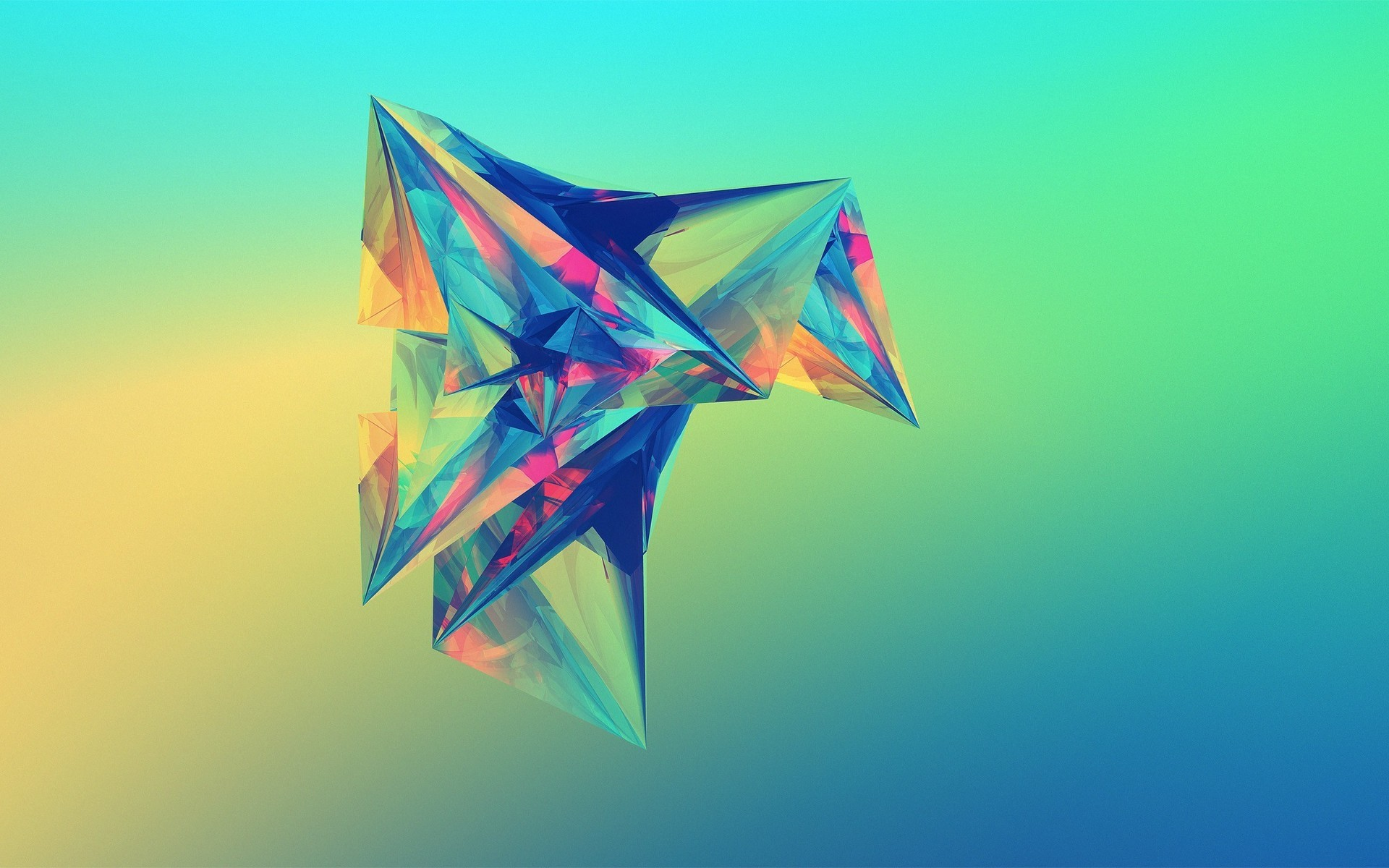 Res: 1920x1200, 3D Polygons Shapes