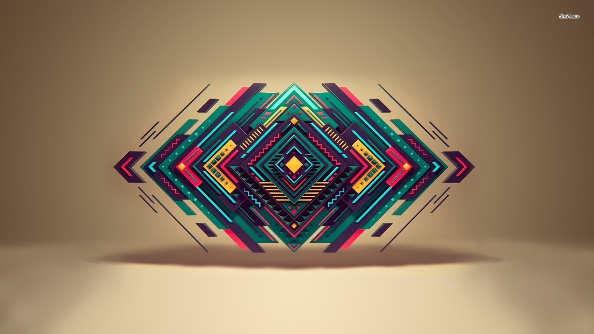 Res: 1920x1080, Geometric Shapes