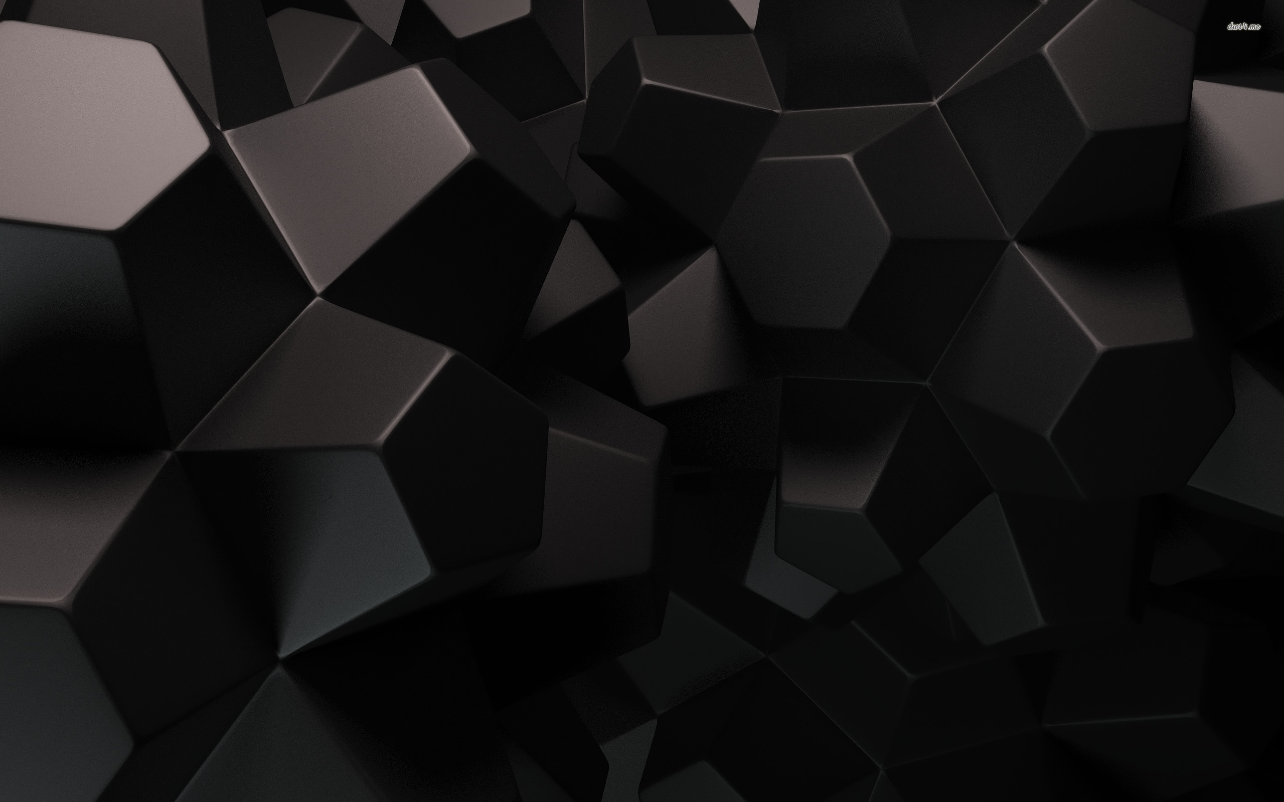 Res: 2560x1600, ... Black geometrical shapes wallpaper ; more. 3D · Shape