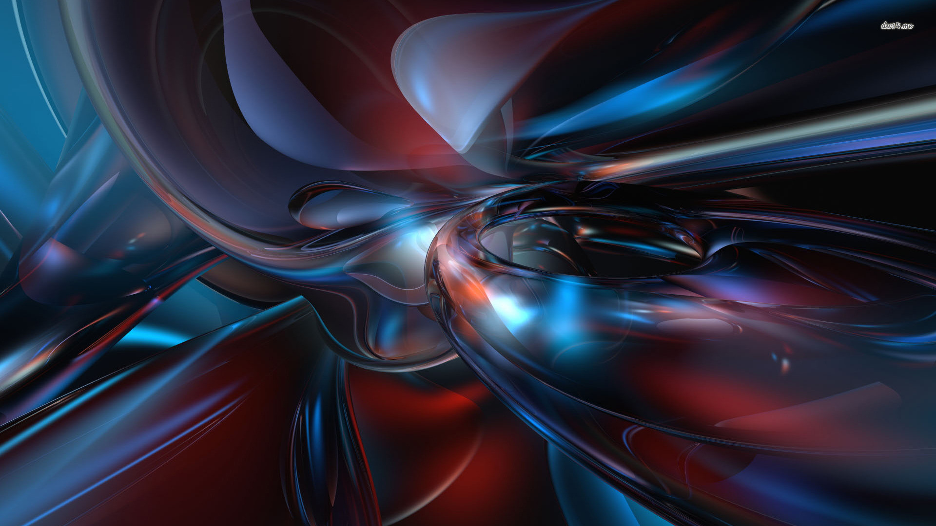 Res: 1920x1080, 3D Wallpaper Red Blue