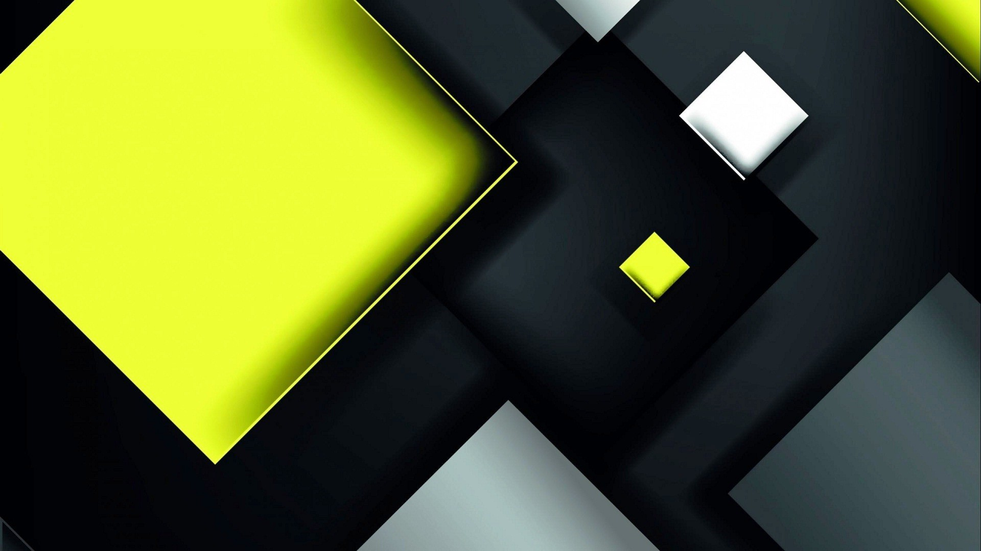 Res: 1920x1080, 3D view of yellow black walls HD wallpapers