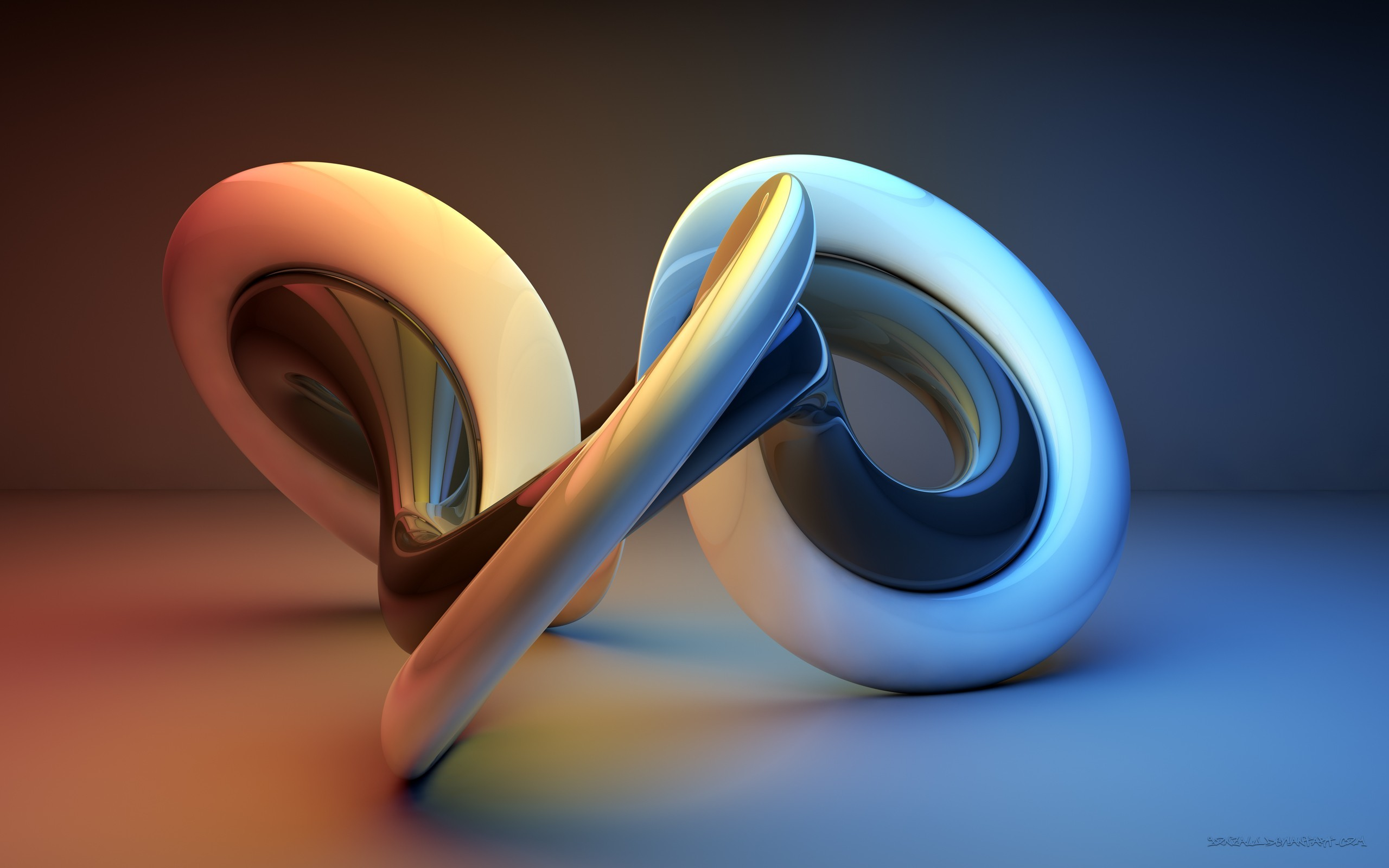 Res: 2560x1600, 3D Shapes