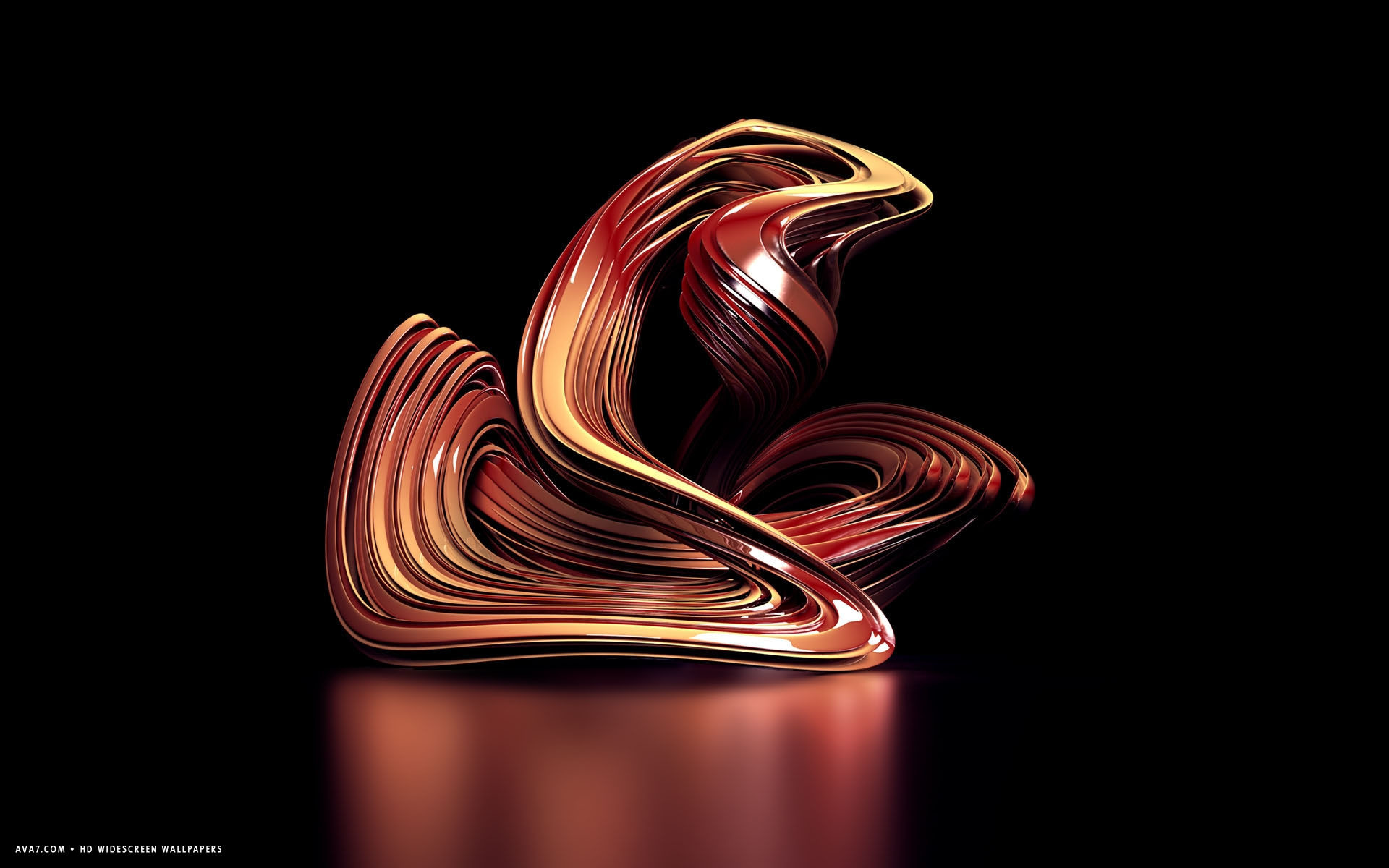 Res: 1920x1200, 3d sculpture red abstract shape hd widescreen wallpaper