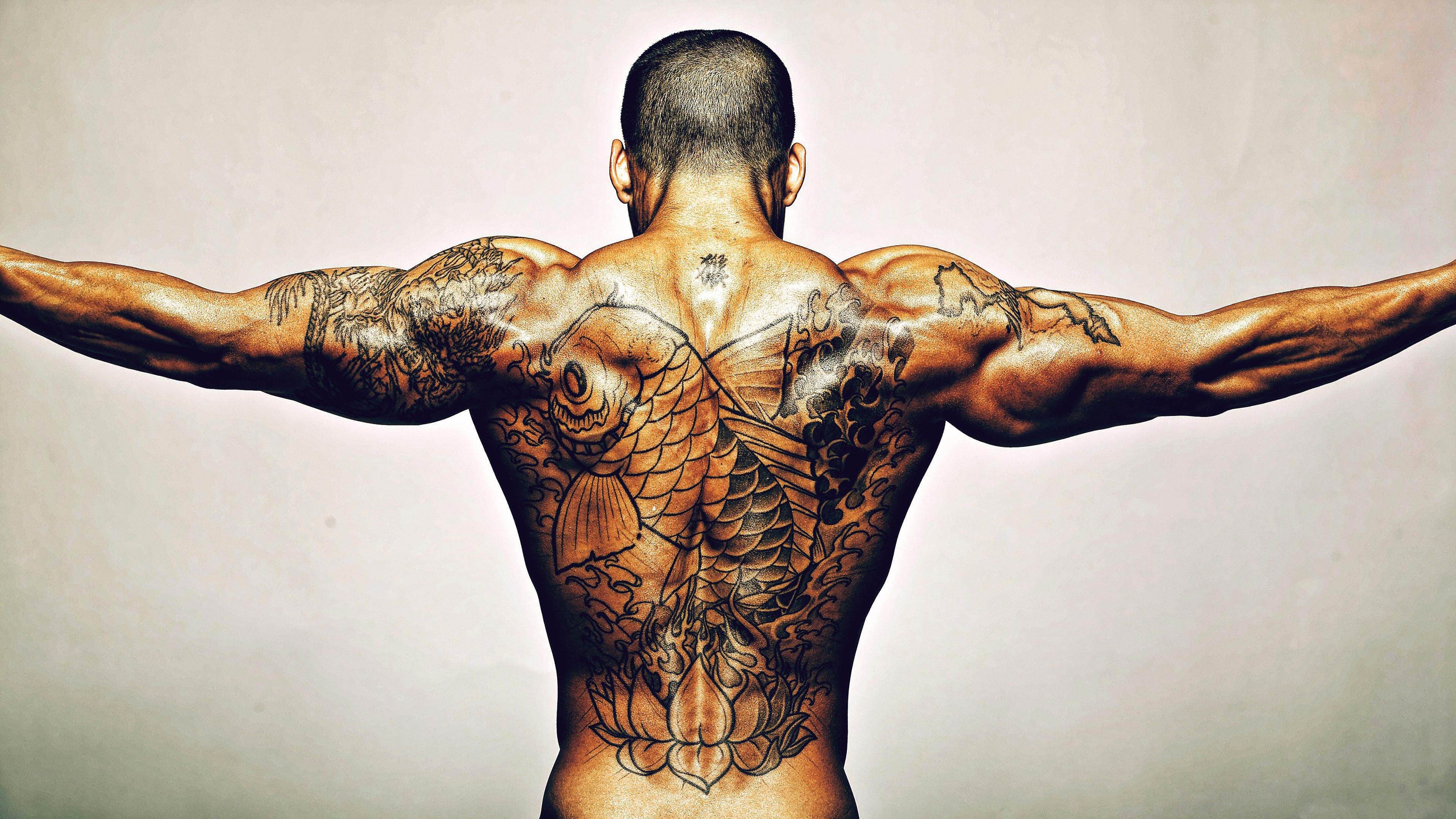 Res: 3840x2160,  GTE Awesome Tattoo Backgrounds Wallpapers · 75 · Download · Laugh  ...