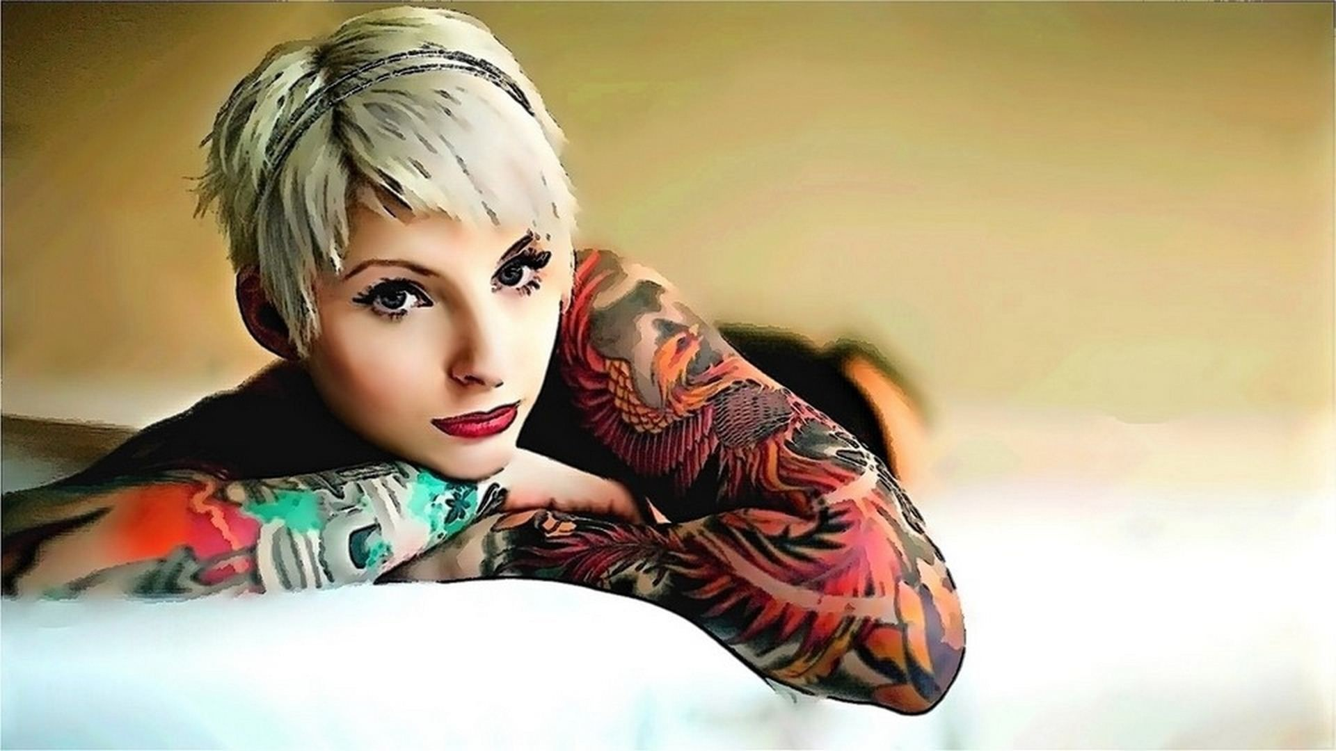 Res: 1920x1080, Custom HDQ Tattoo Girl 1280x800 Wallpapers and Pictures (228142274,  )