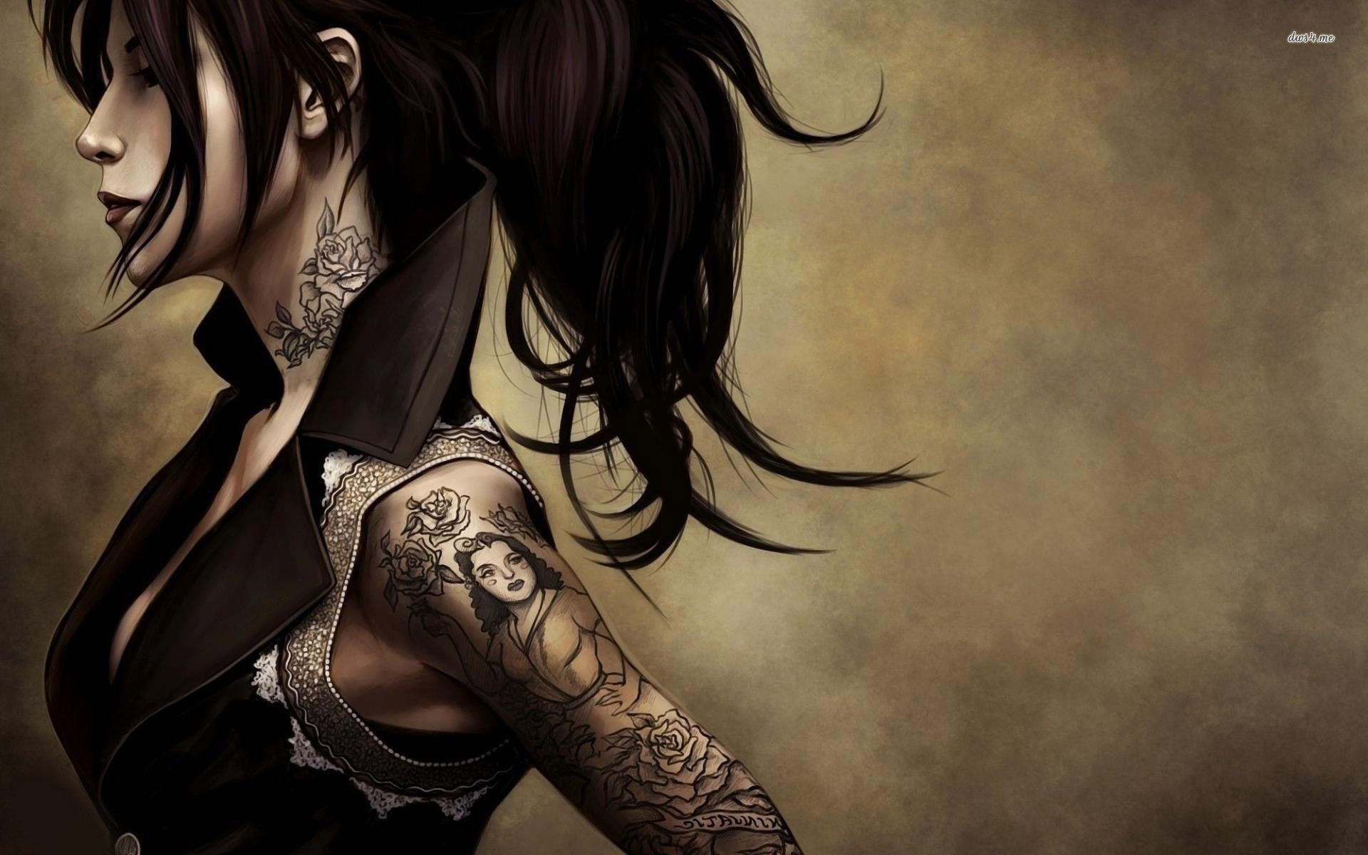 Res: 1920x1200, Tattoo Girl Wallpaper 1920×1200 Tattooed Women Wallpapers (41 Wallpapers) |  Adorable Wallpapers