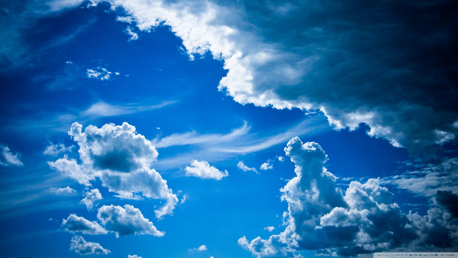 Res: 1920x1080,  Blue Clouds wallpaper