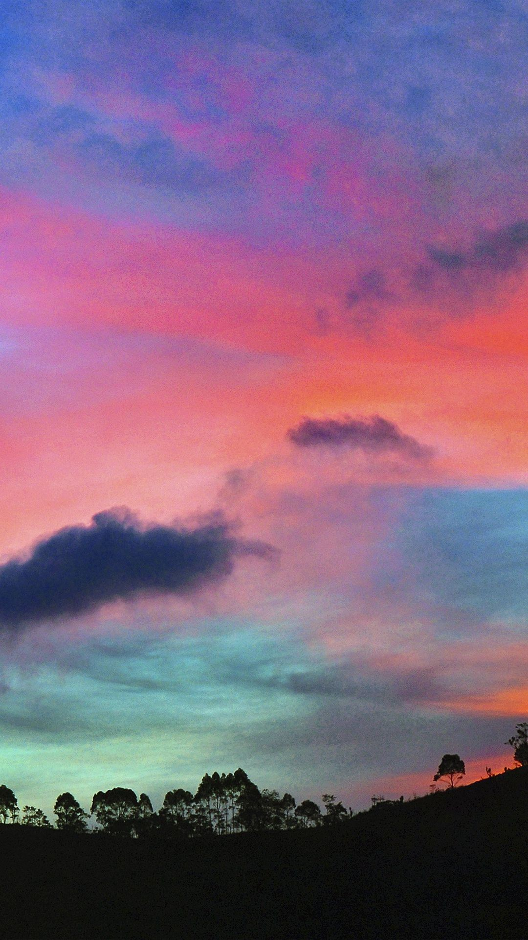 Res: 1080x1920, Sky Rainbow Cloud Sunset Nature iPhone 6 wallpaper