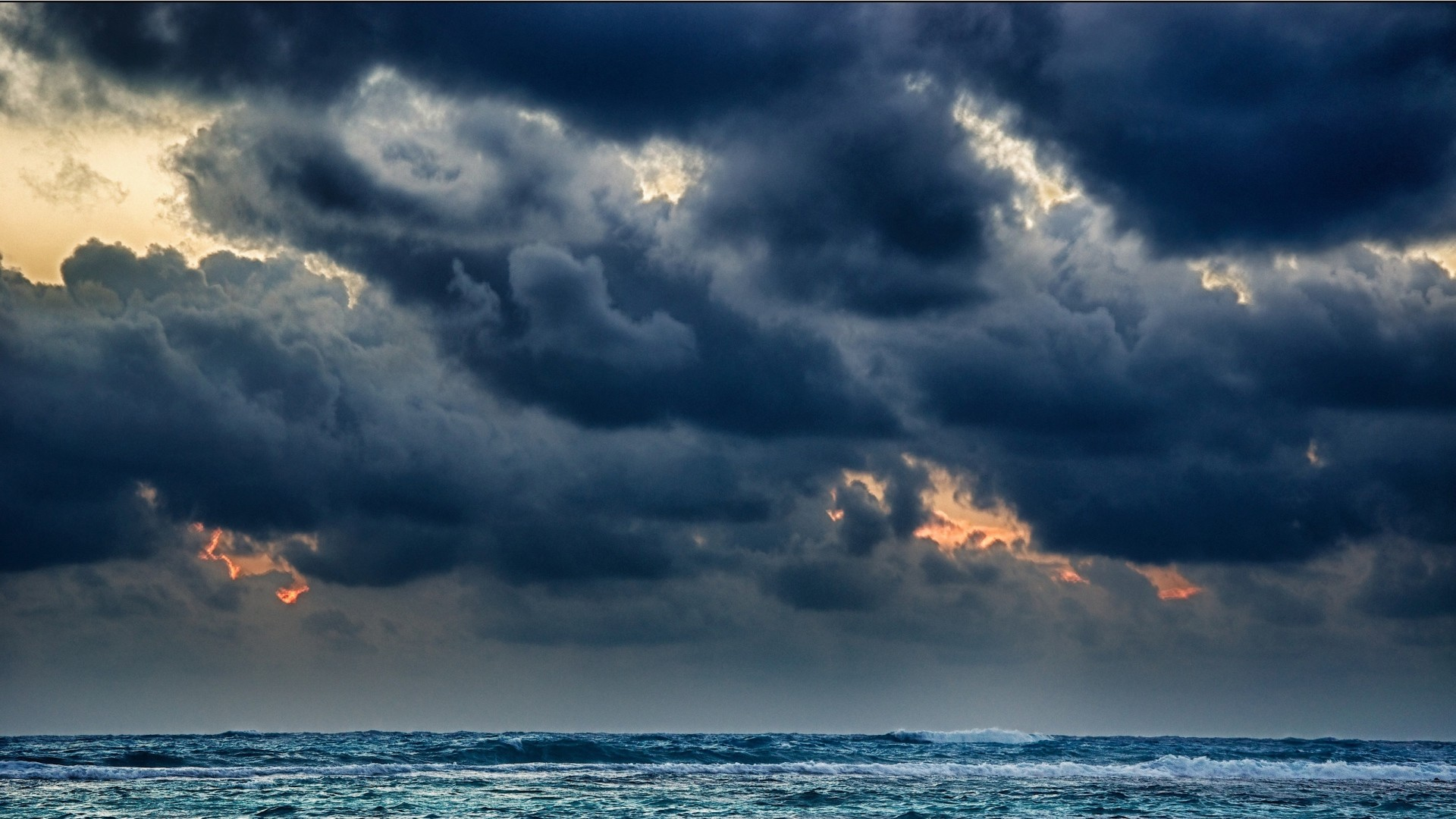 Res: 1920x1080, Wonderful Nature Clouds Raining on Sea