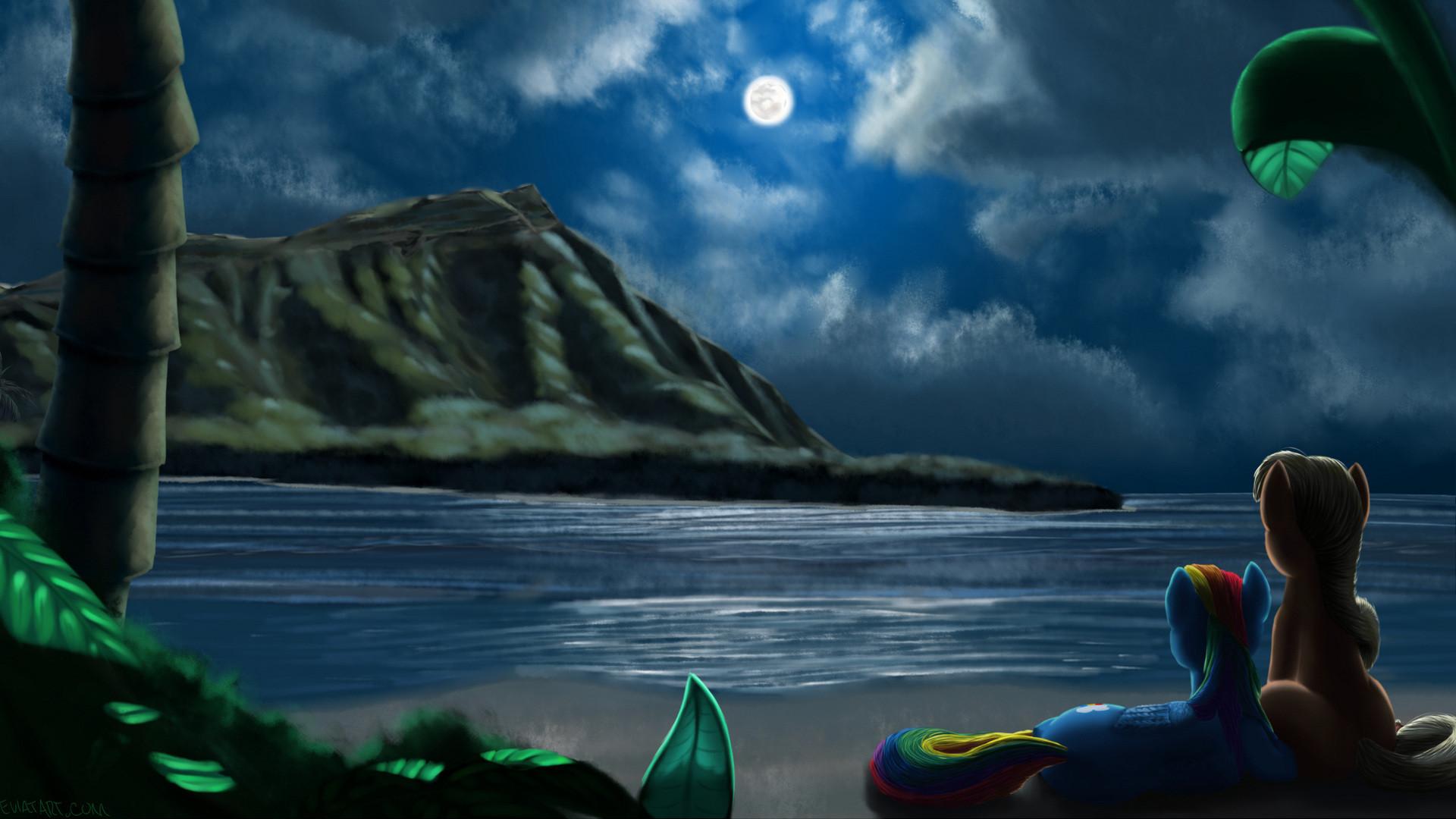 Res: 1920x1080, Download now full hd wallpaper unicorn romantic beach moon ...