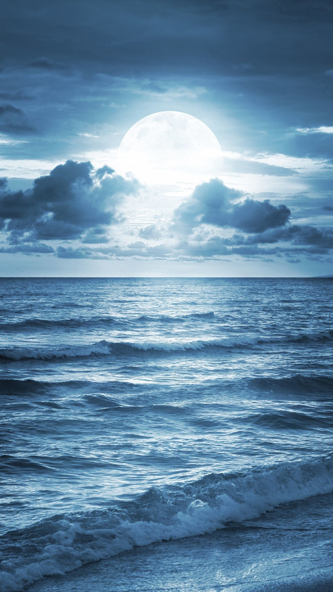Res: 1080x1920, Blue Ocean Beach At Dusk iPhone 6 wallpaper