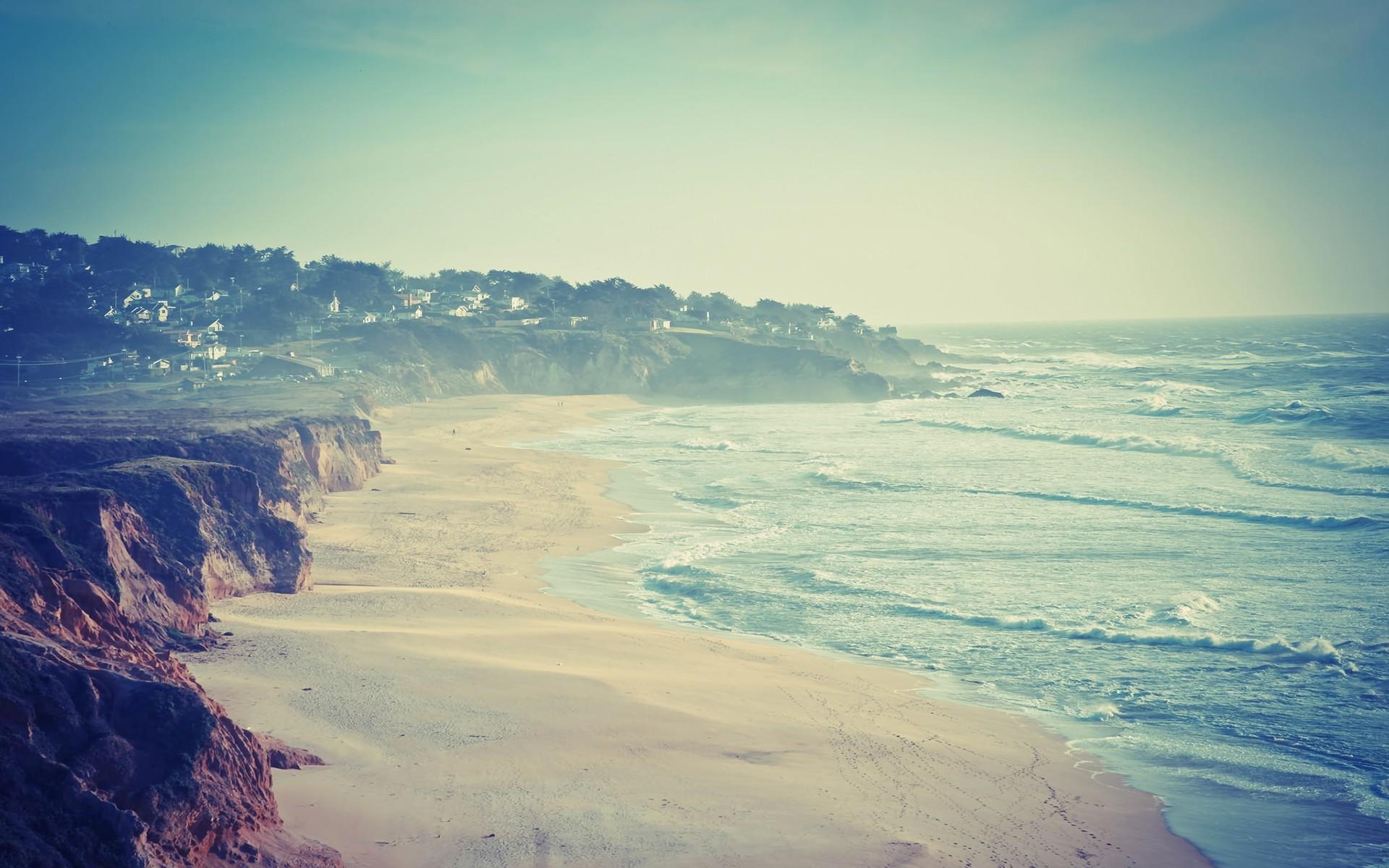 Res: 1920x1200, Half moon bay Montara Beach sea wallpaper |  | 182846 | WallpaperUP