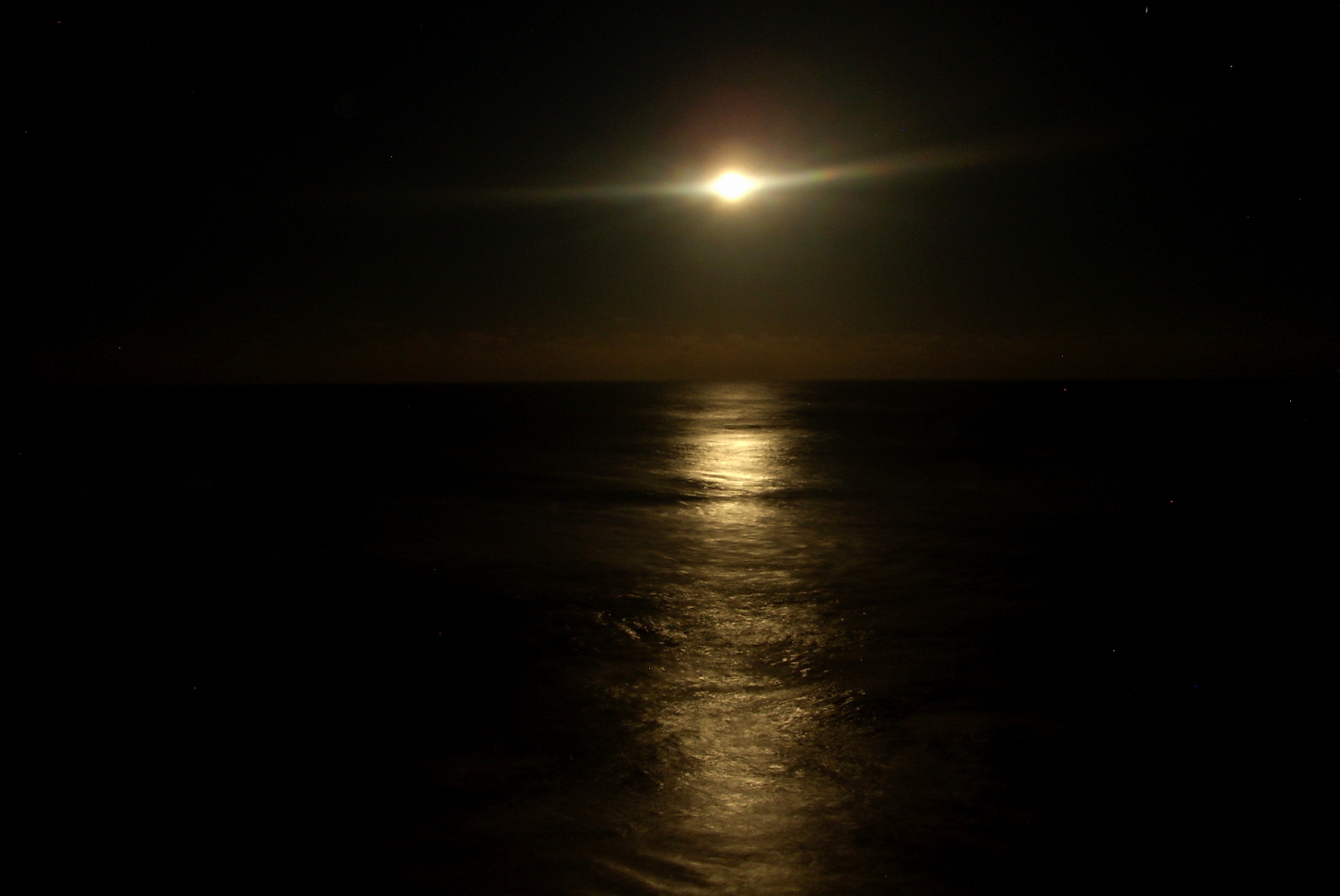 Res: 2560x1712, Sun and Moon Wallpaper Elegant Beach at Night