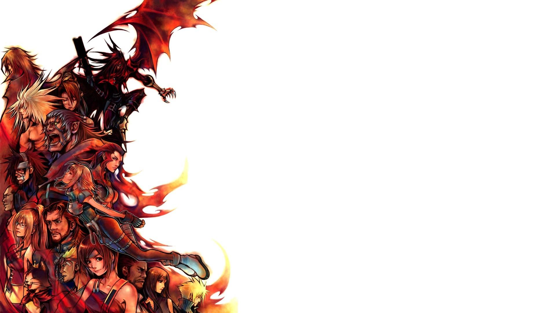 Res: 1920x1080, Final Fantasy White Cloud Strife Tifa Lockheart Barret Wallace Yuffie  Kisaragi Cid Cait Sith Vincent HD